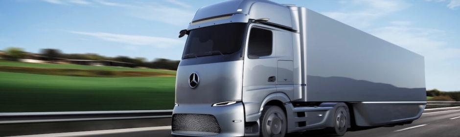 elektrische Mercedes vrachtwagen