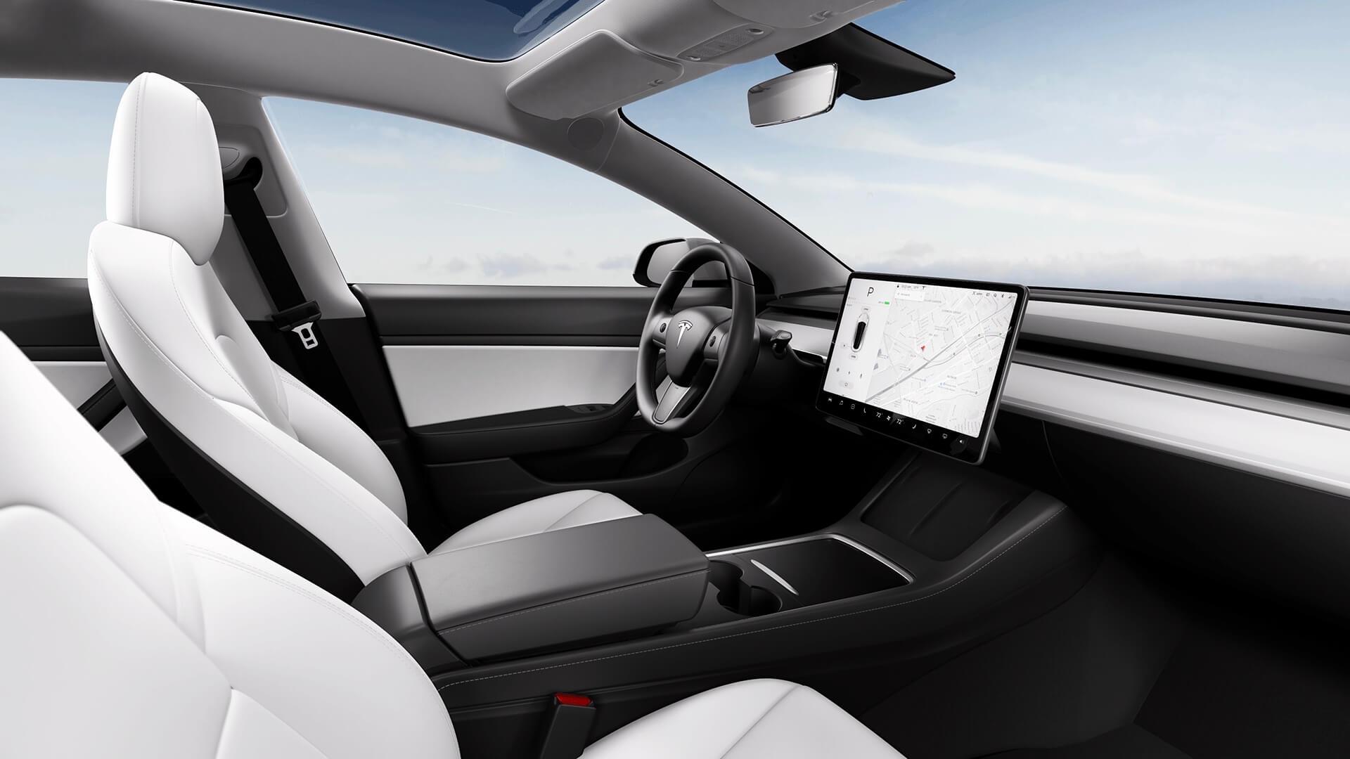 2021 Tesla Model 3 interieur zetels