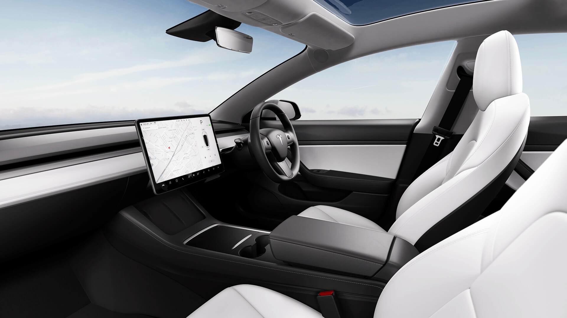 2021 Tesla Model 3 interieur