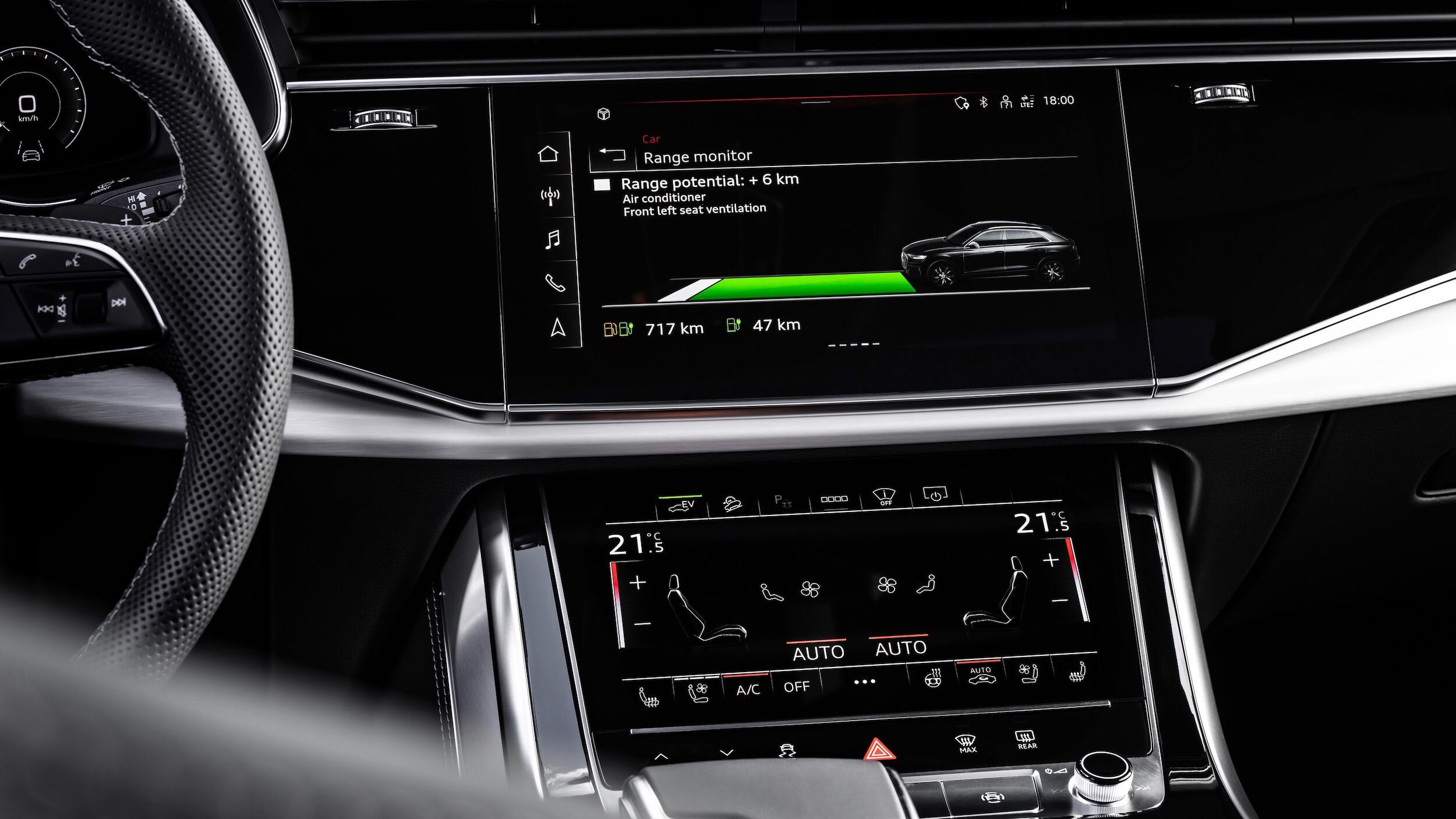 Audi Q8 PHEV infotainment scherm