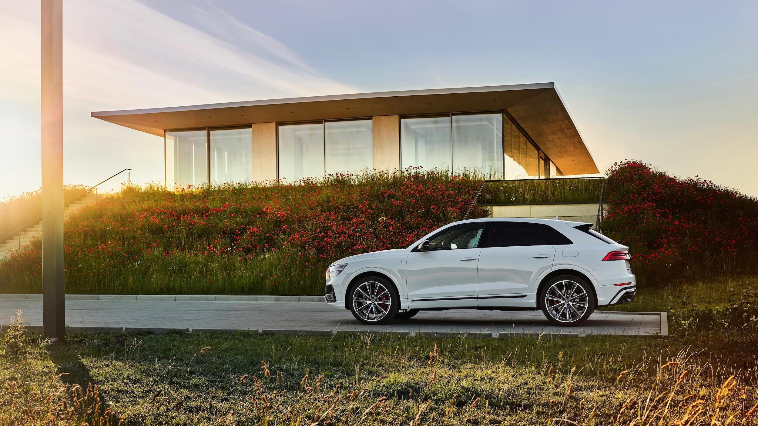Audi Q8 TFSI e profiel