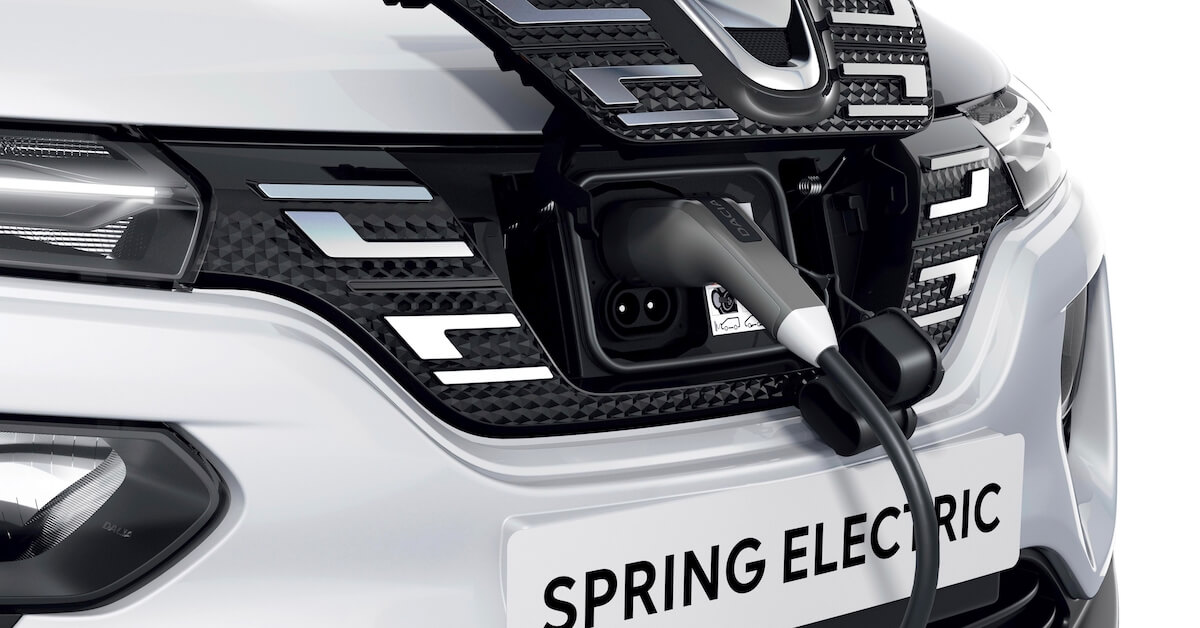 Dacia Spring laadklep open