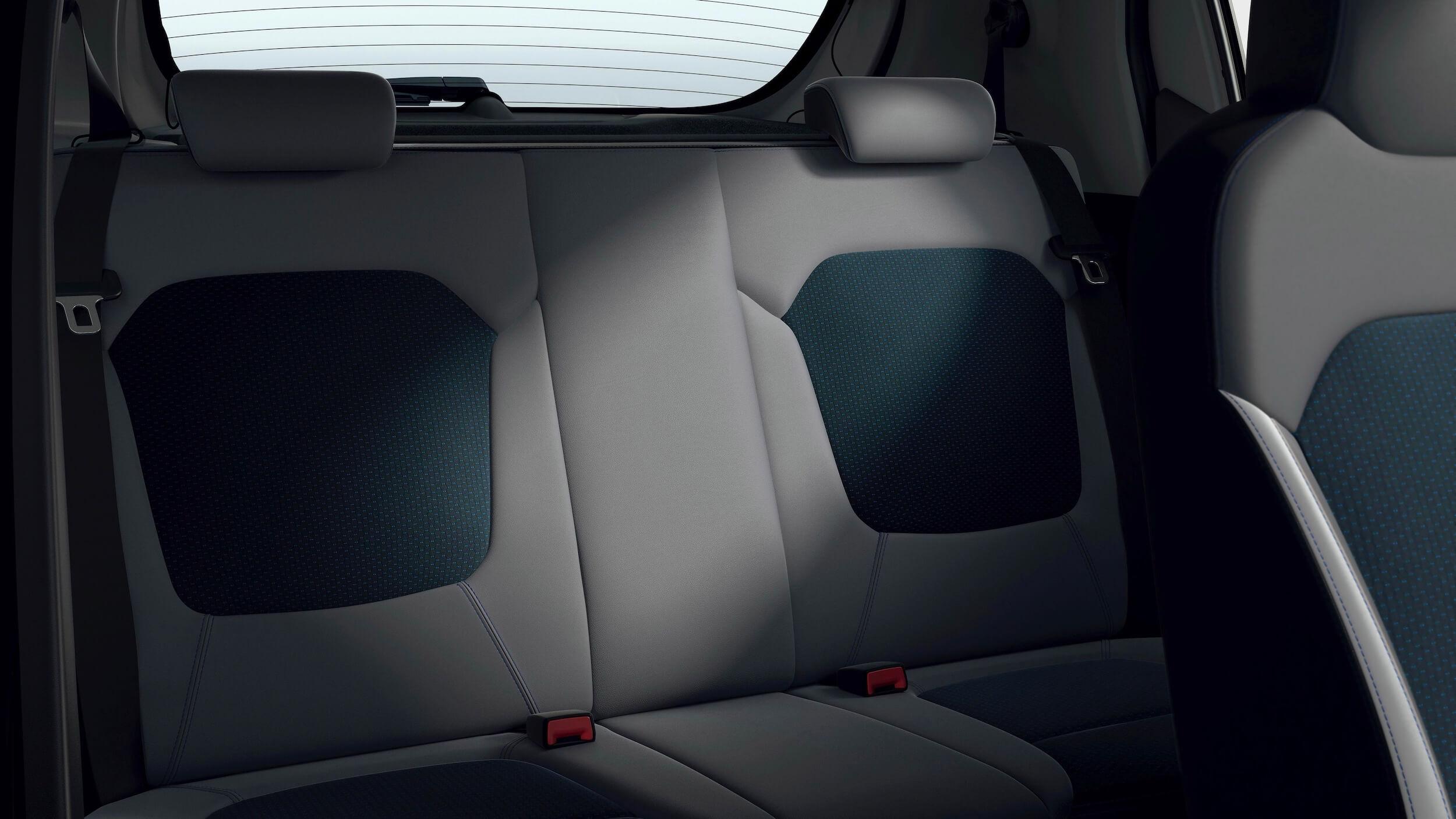 Dacia Spring zetels achterbank