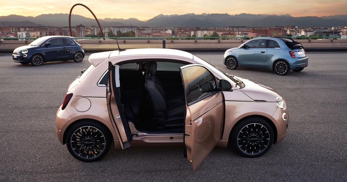 Fiat 500e suicide door