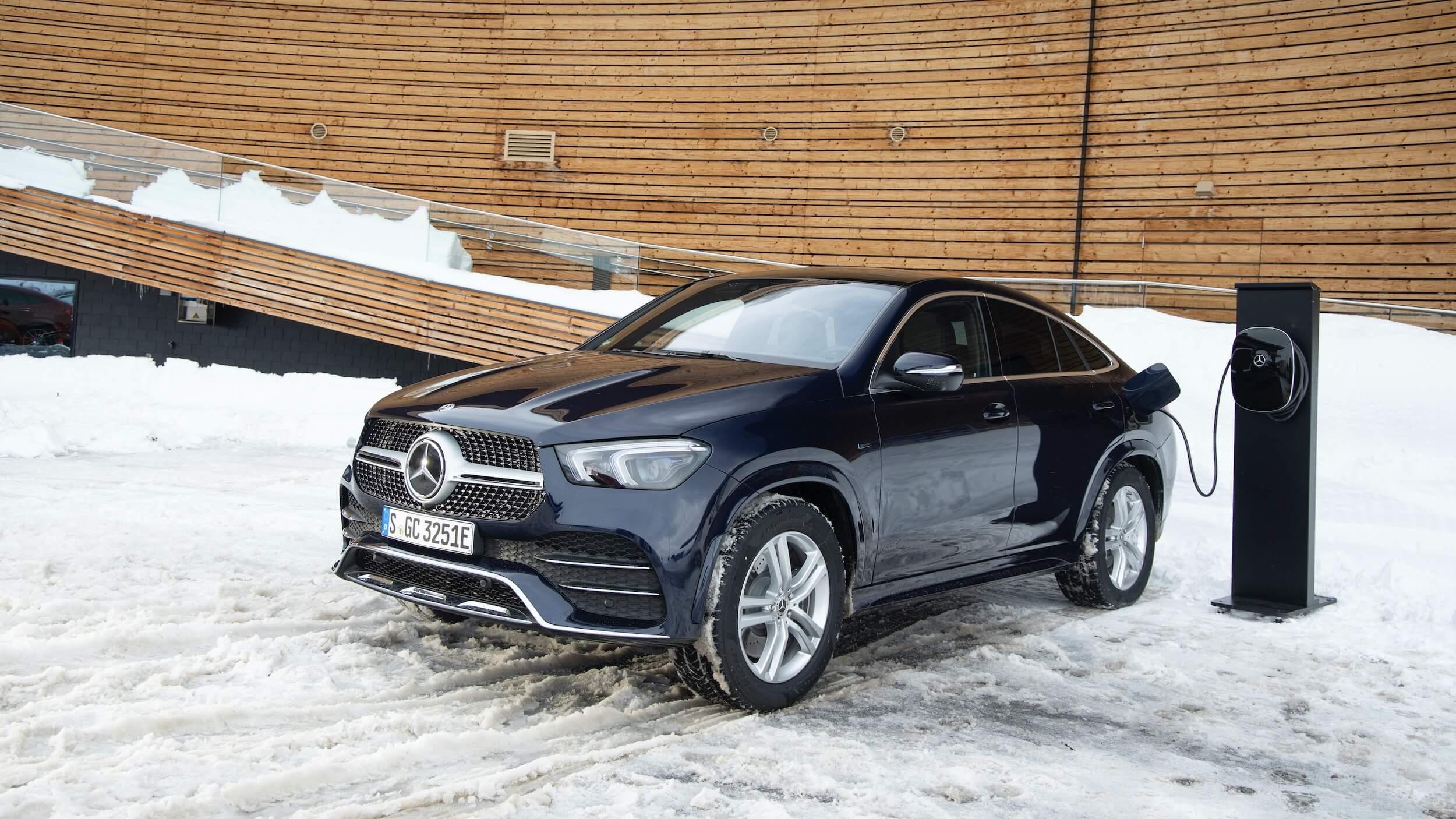 Hybride Mercedes GLE 350de Coupé opladen