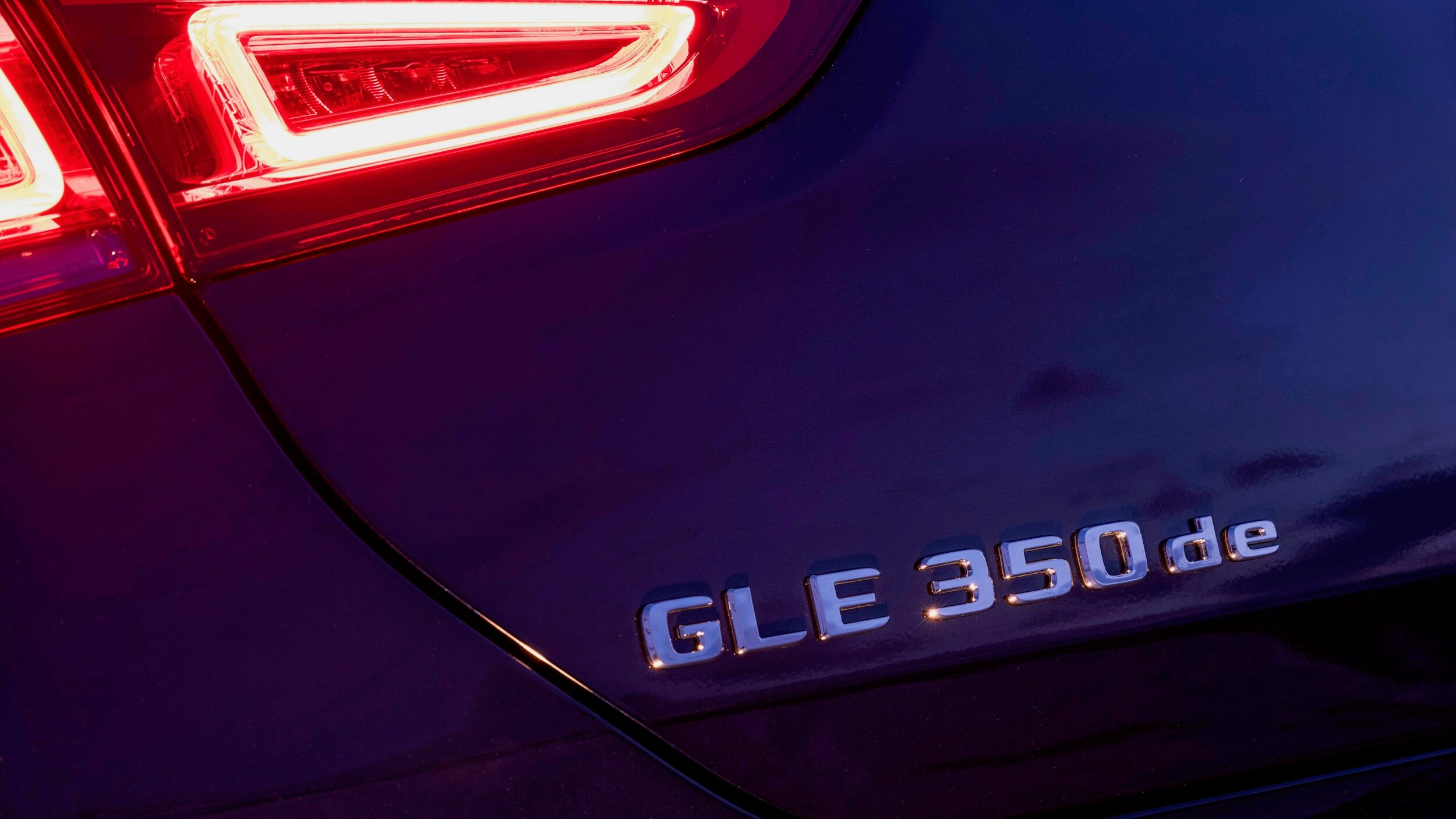 Mercedes GLE 350de badge