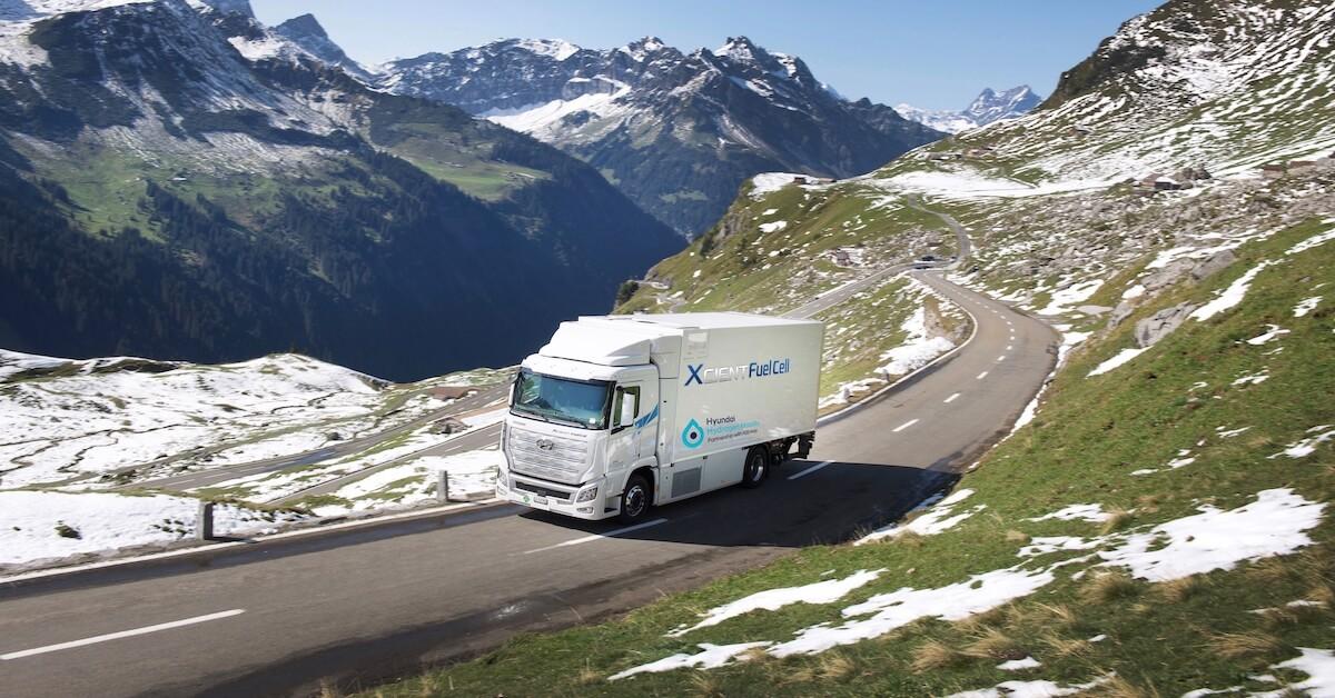 vrachtwagen op waterstof