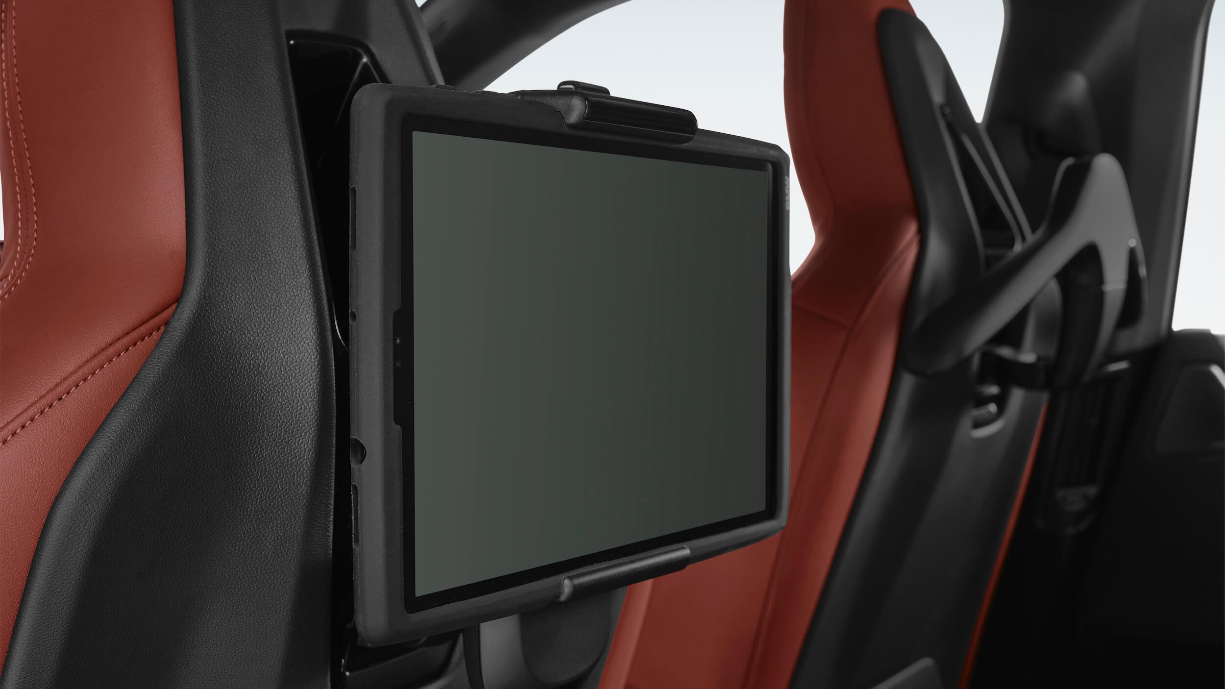 BMW iX scherm achter zetels