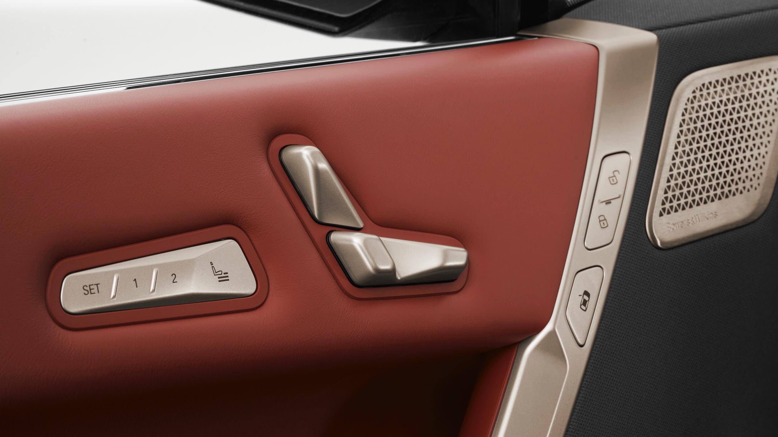 BMW iX zetelconfiguratie