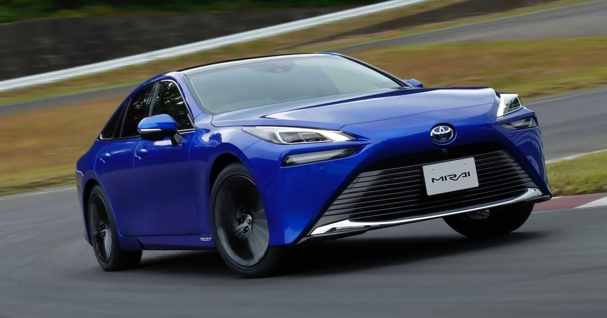 Nieuwe Toyota Mirai waterstof