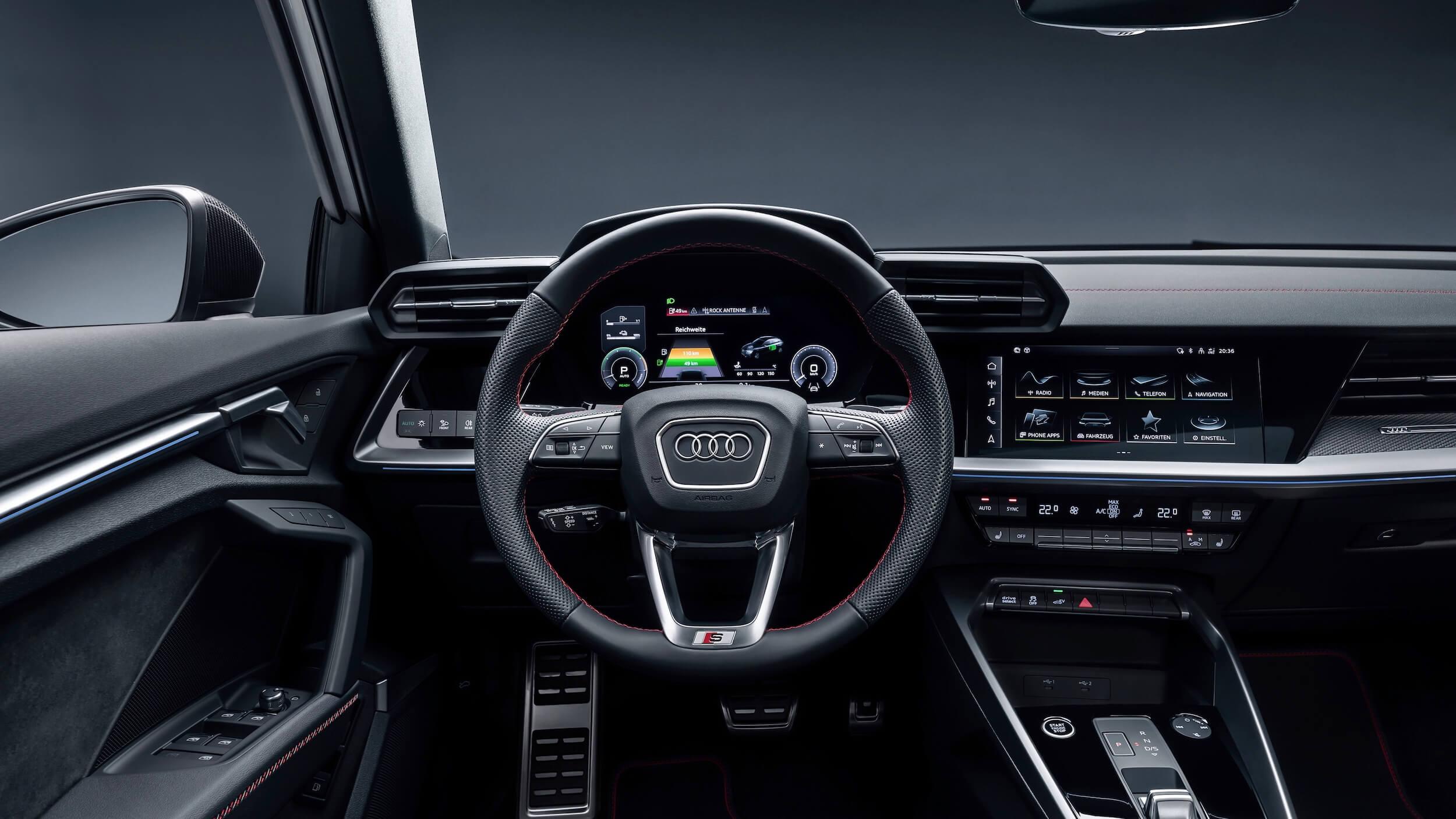 Audi A3 Sportback 45 TFSIe stuur