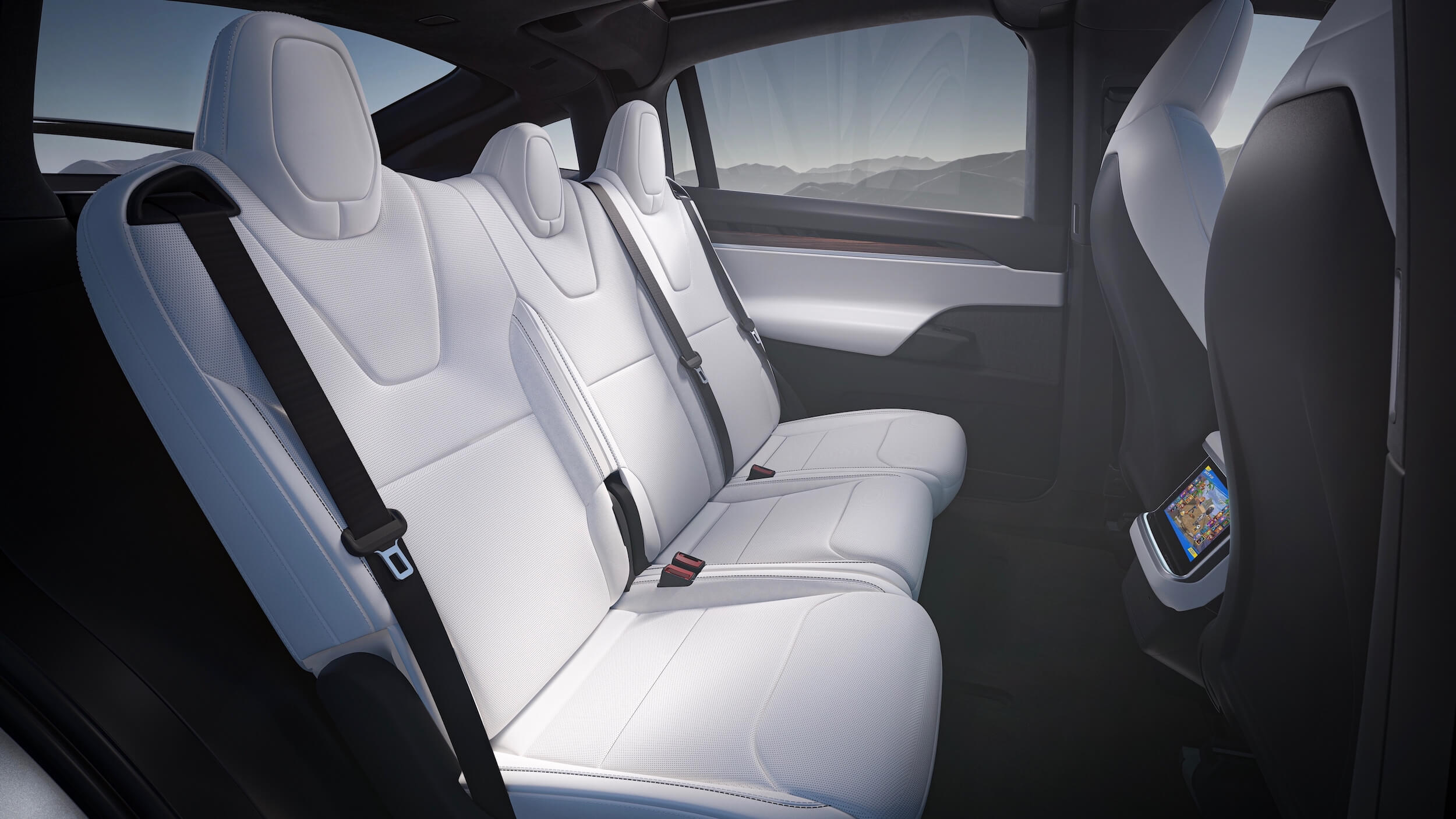 2021 Tesla Model X achterbank