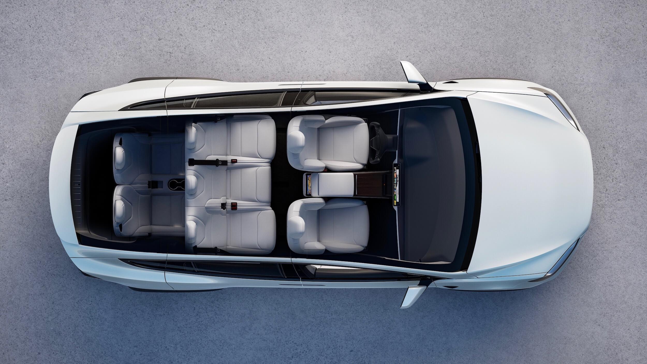 2021 Tesla Model X bovenaanzicht