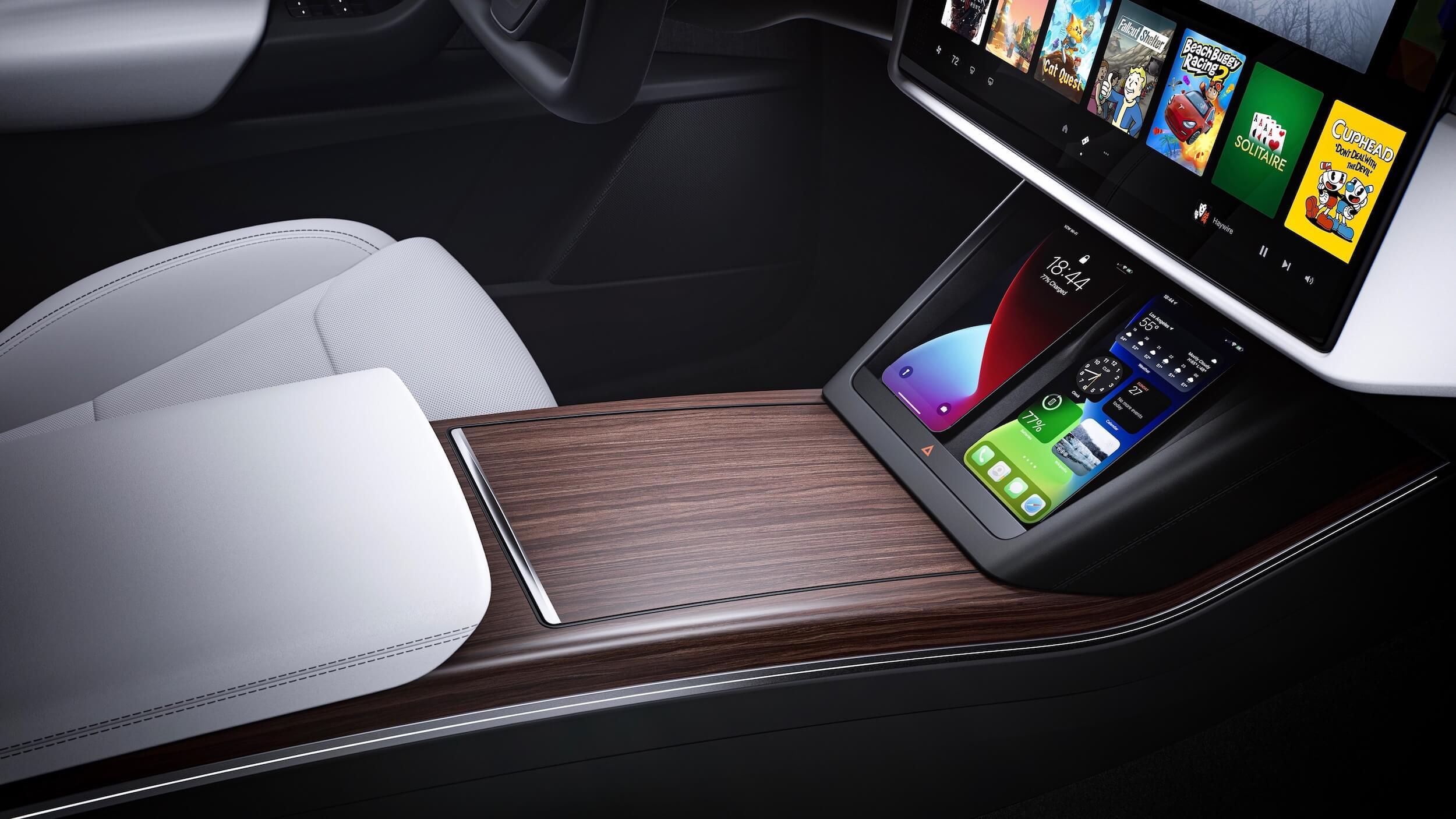 2021 Tesla Model X middenconsole