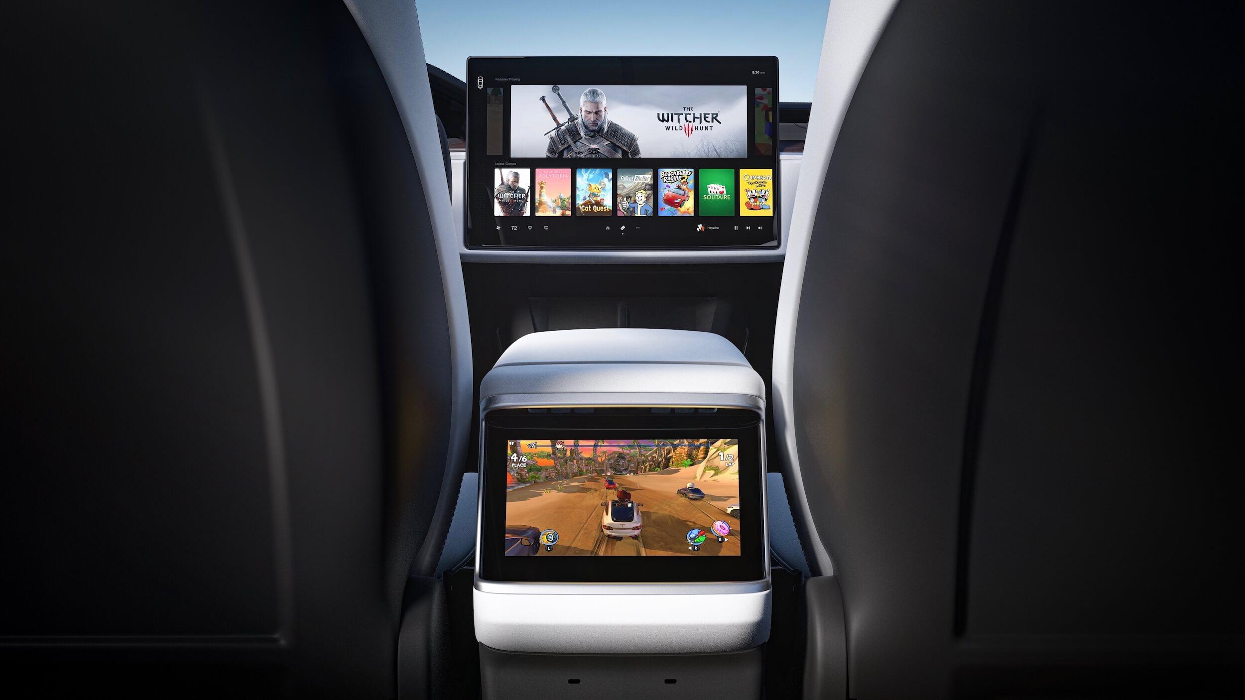 2021 Tesla Model X scherm achteraan