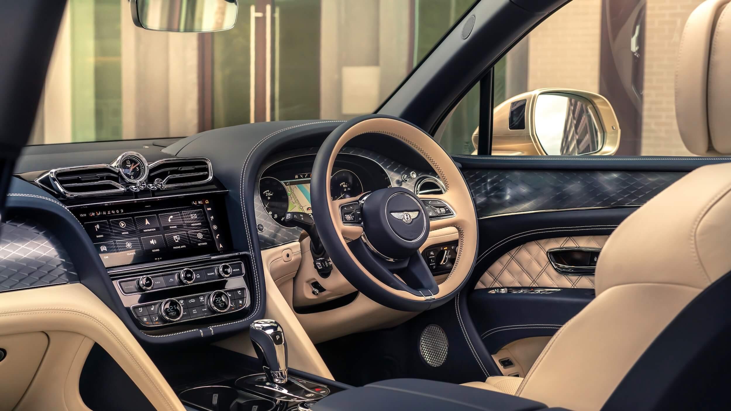 Bentley Bentayga PHEV stuur