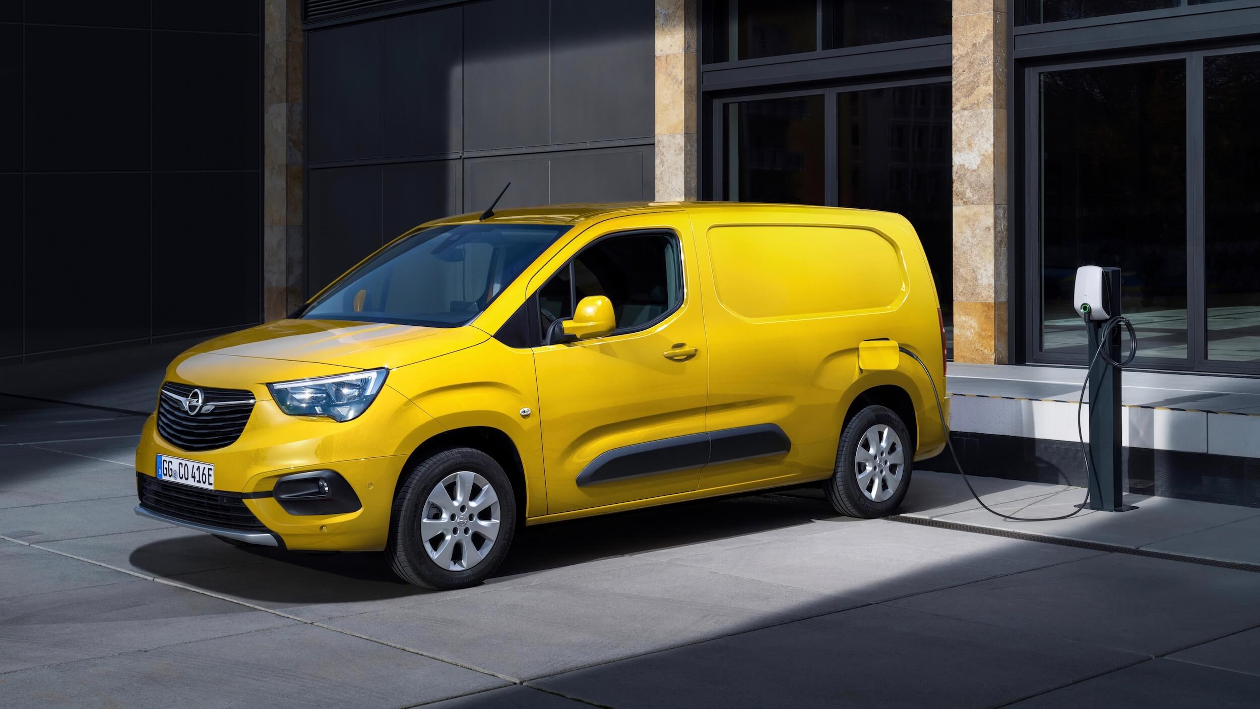 Elektrische Opel bestelwagen