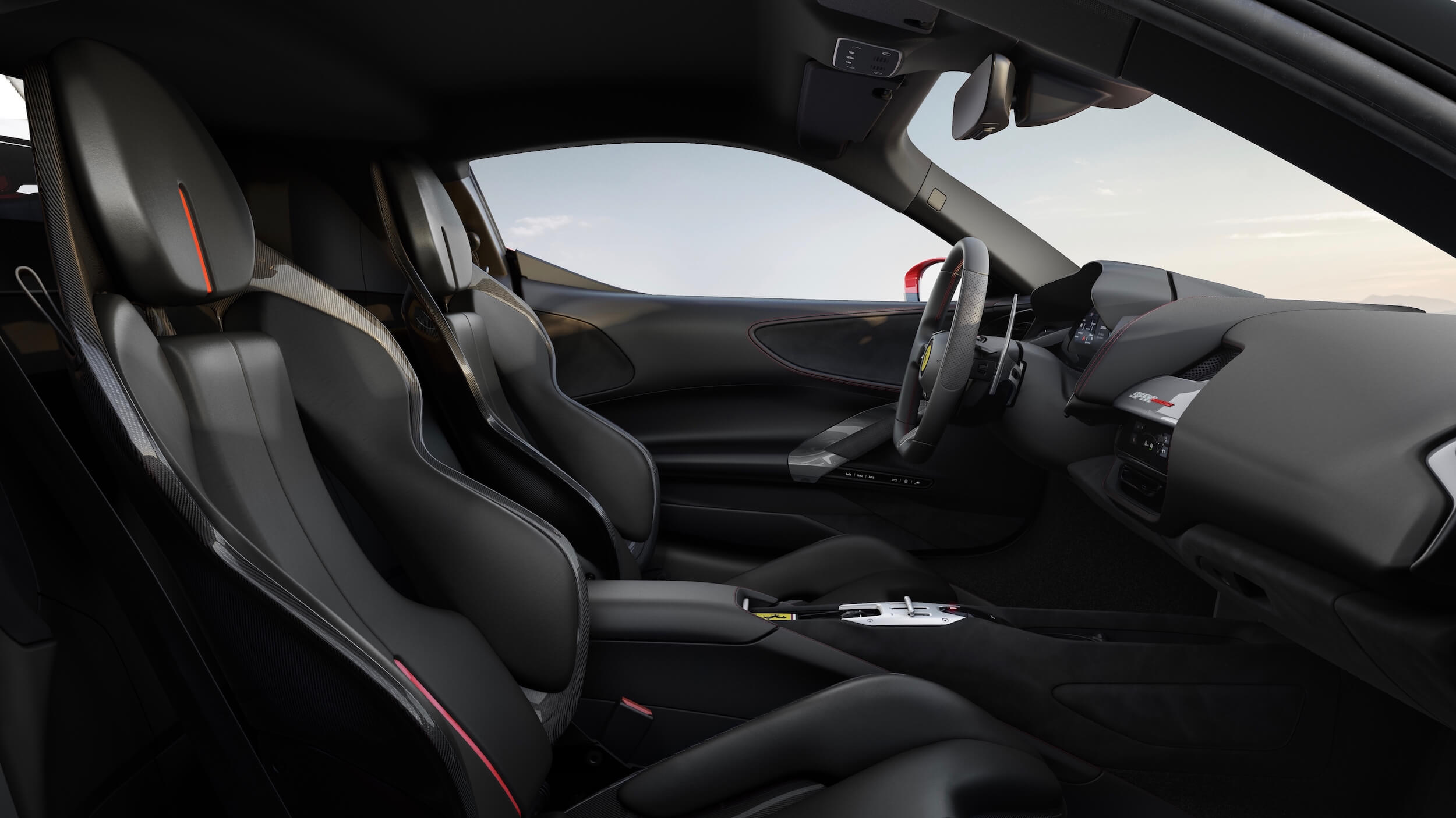 Ferrari SF90 Stradale zwarte zetels