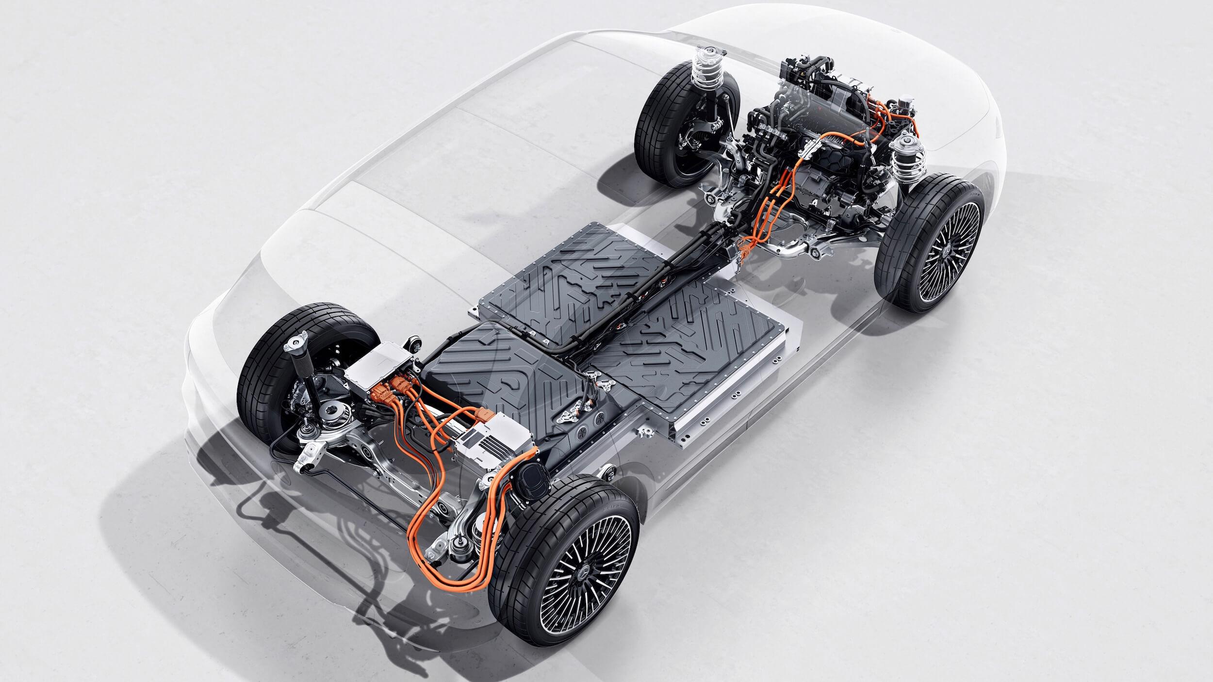 Mercedes EQA batterij en aandrijflijn