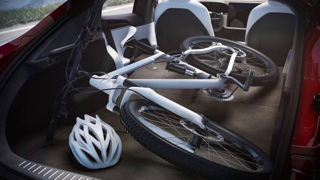Tesla Model S fiets in koffer
