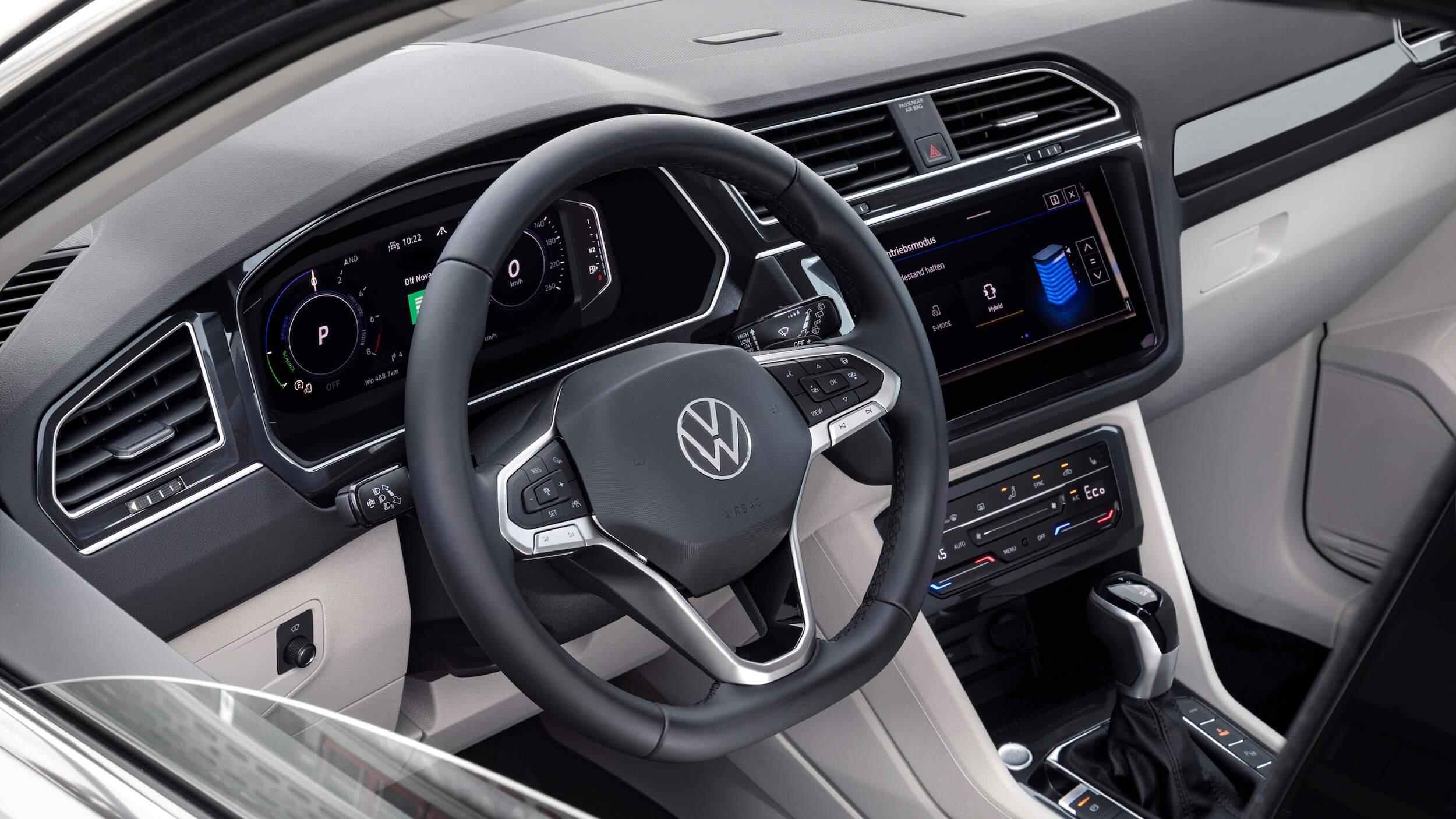 VW Tiguan eHybrid stuur