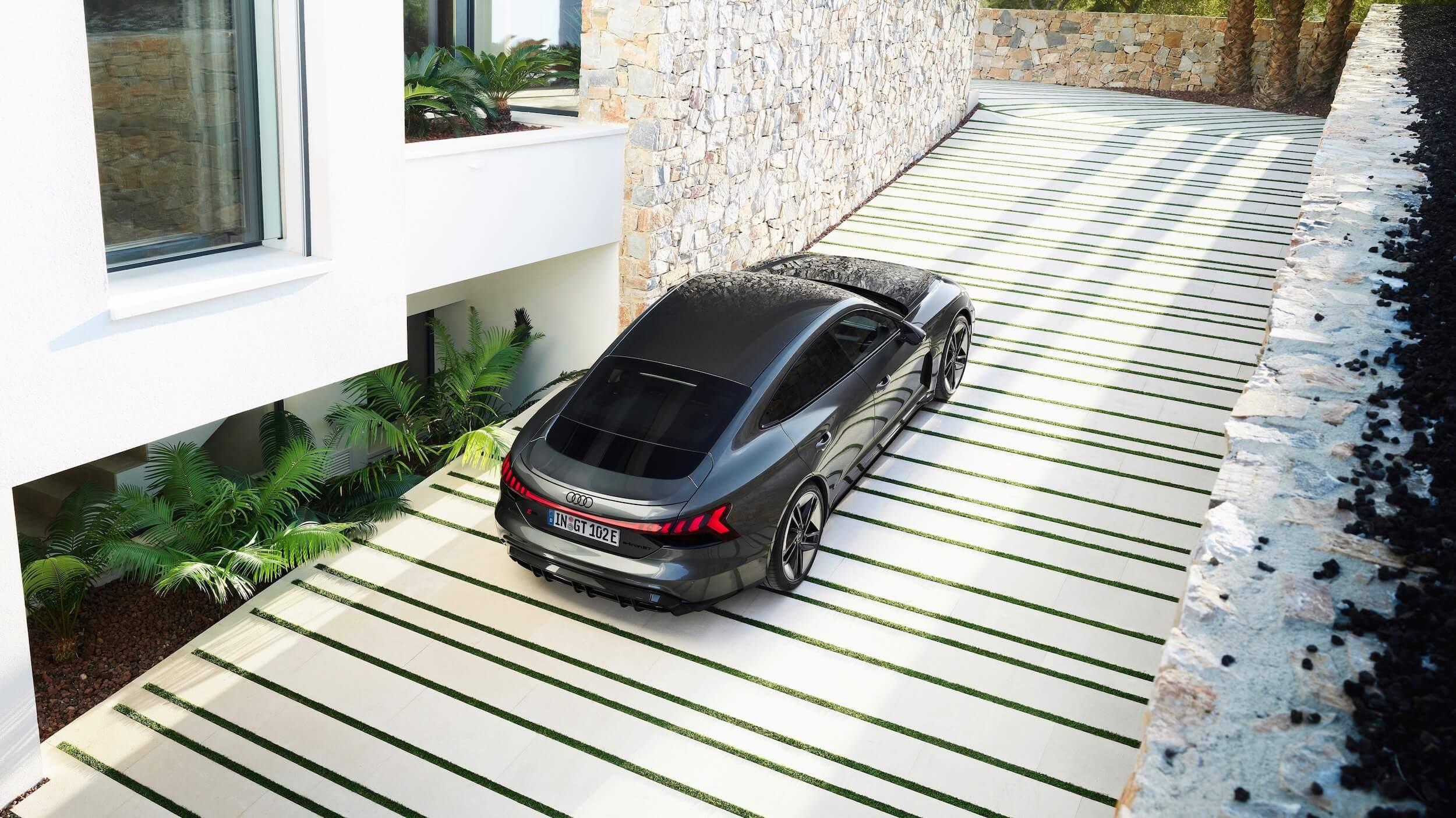 Audi e tron GT RS bovenaanzicht