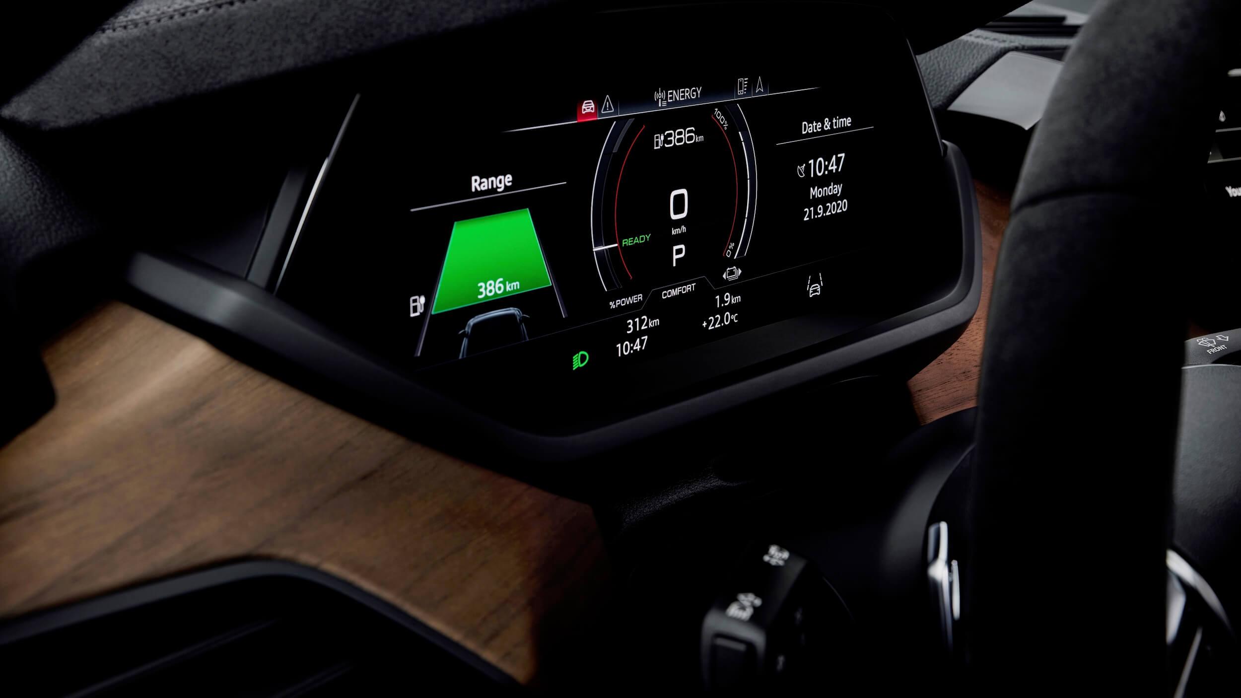 Audi e tron GT scherm