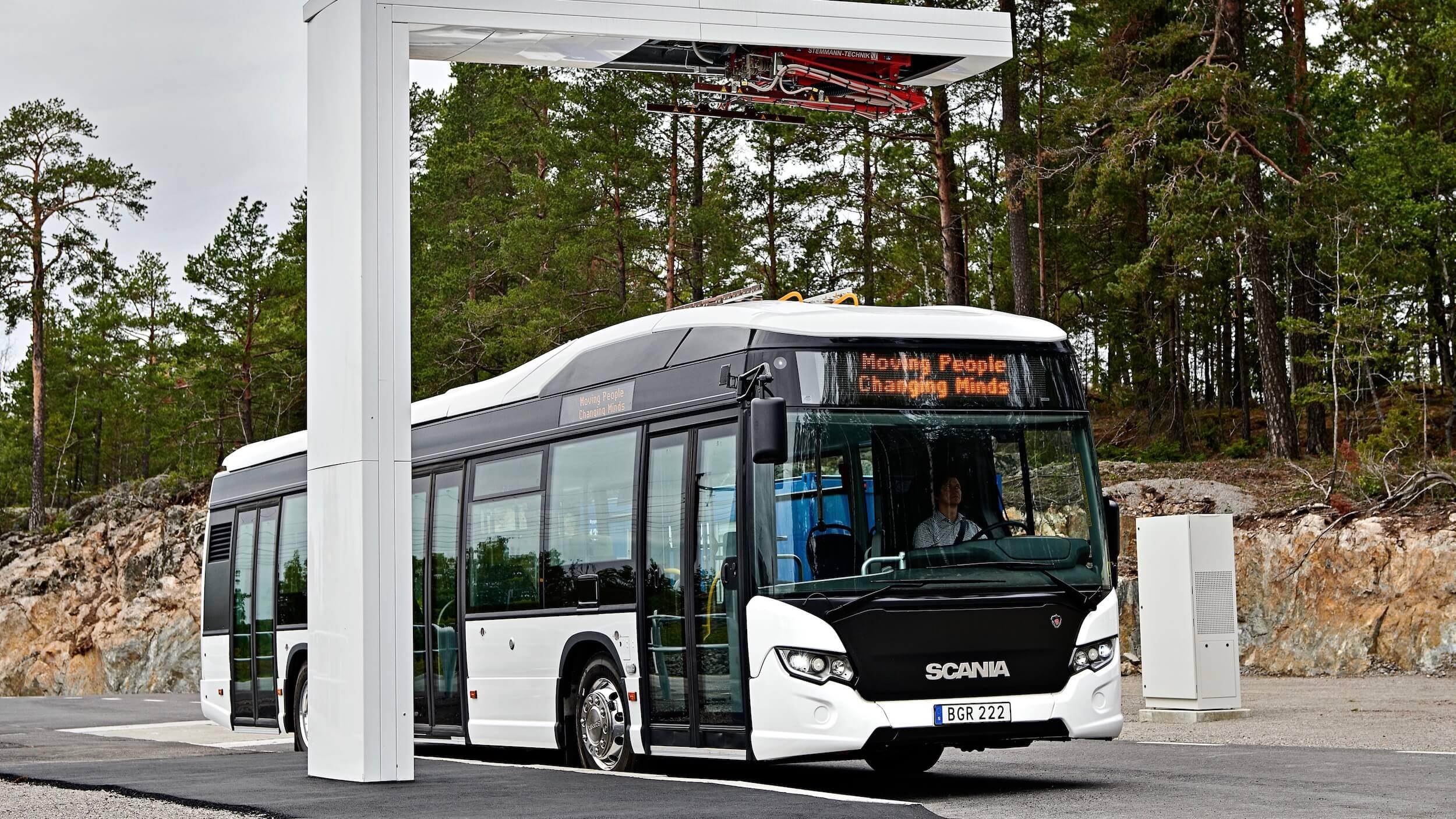 Scania elektrische bus opladen