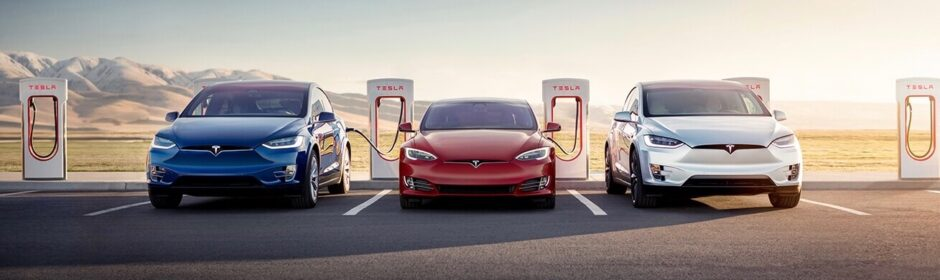 Tesla Supercharger met Model S en X