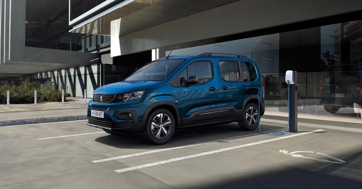 elektrische Peugeot e Rifter minibus