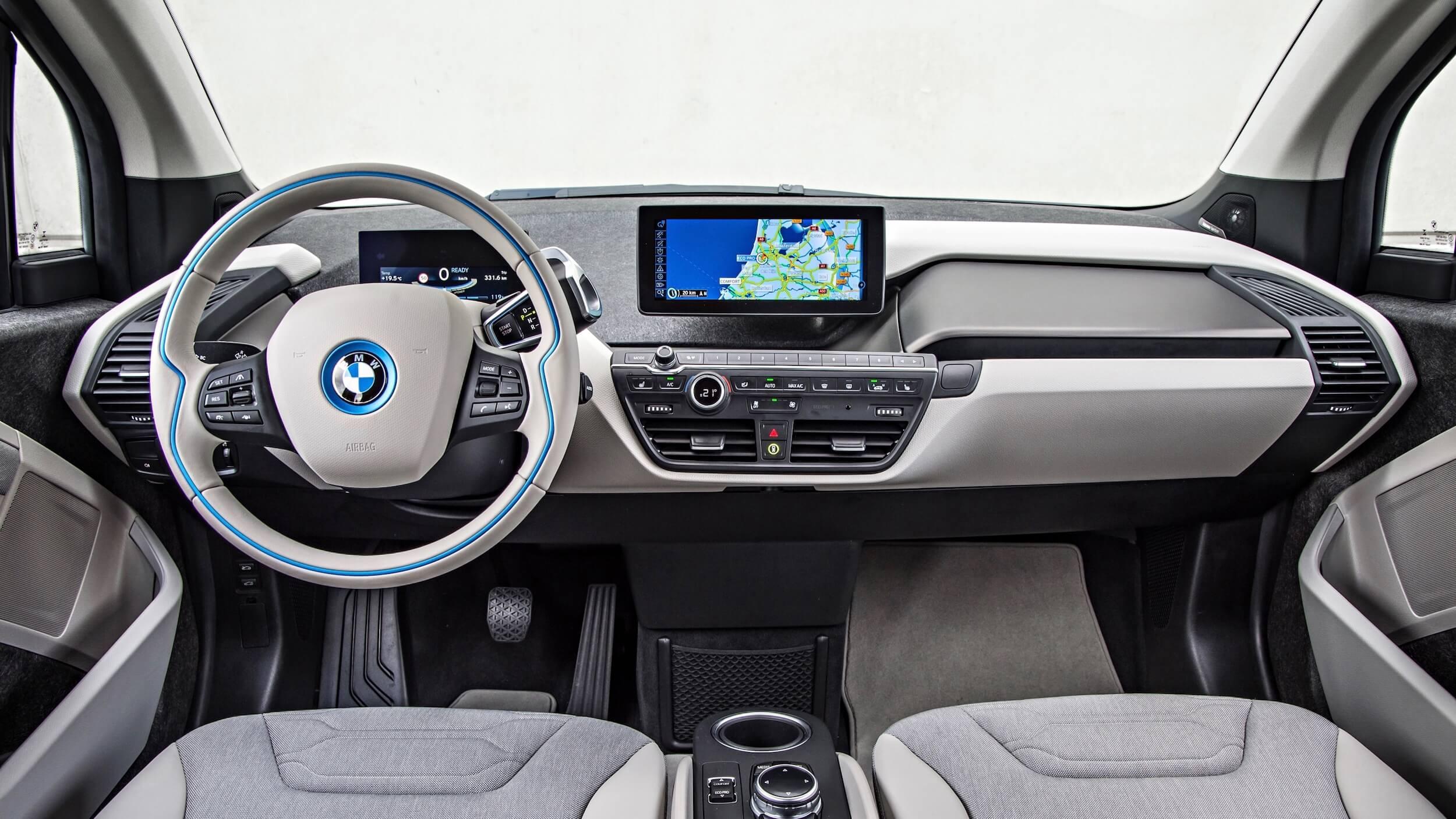 2013 BMW i3 oranje grijs interieur