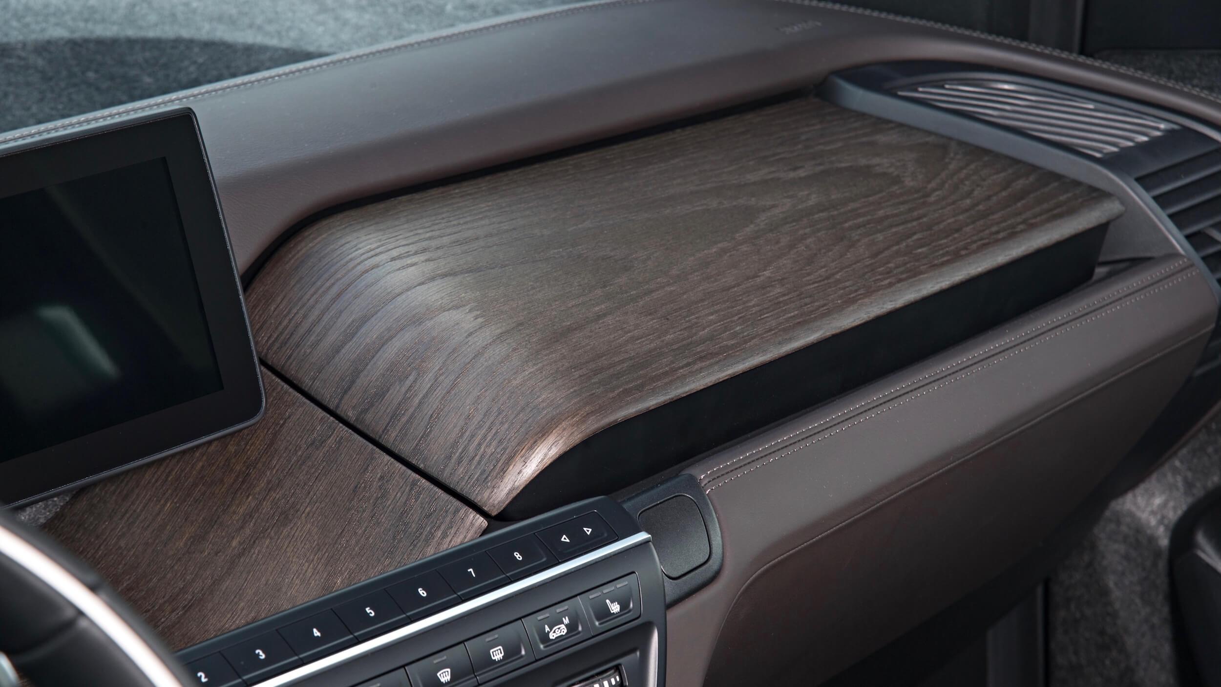 2016 BMW i3 hout interieur