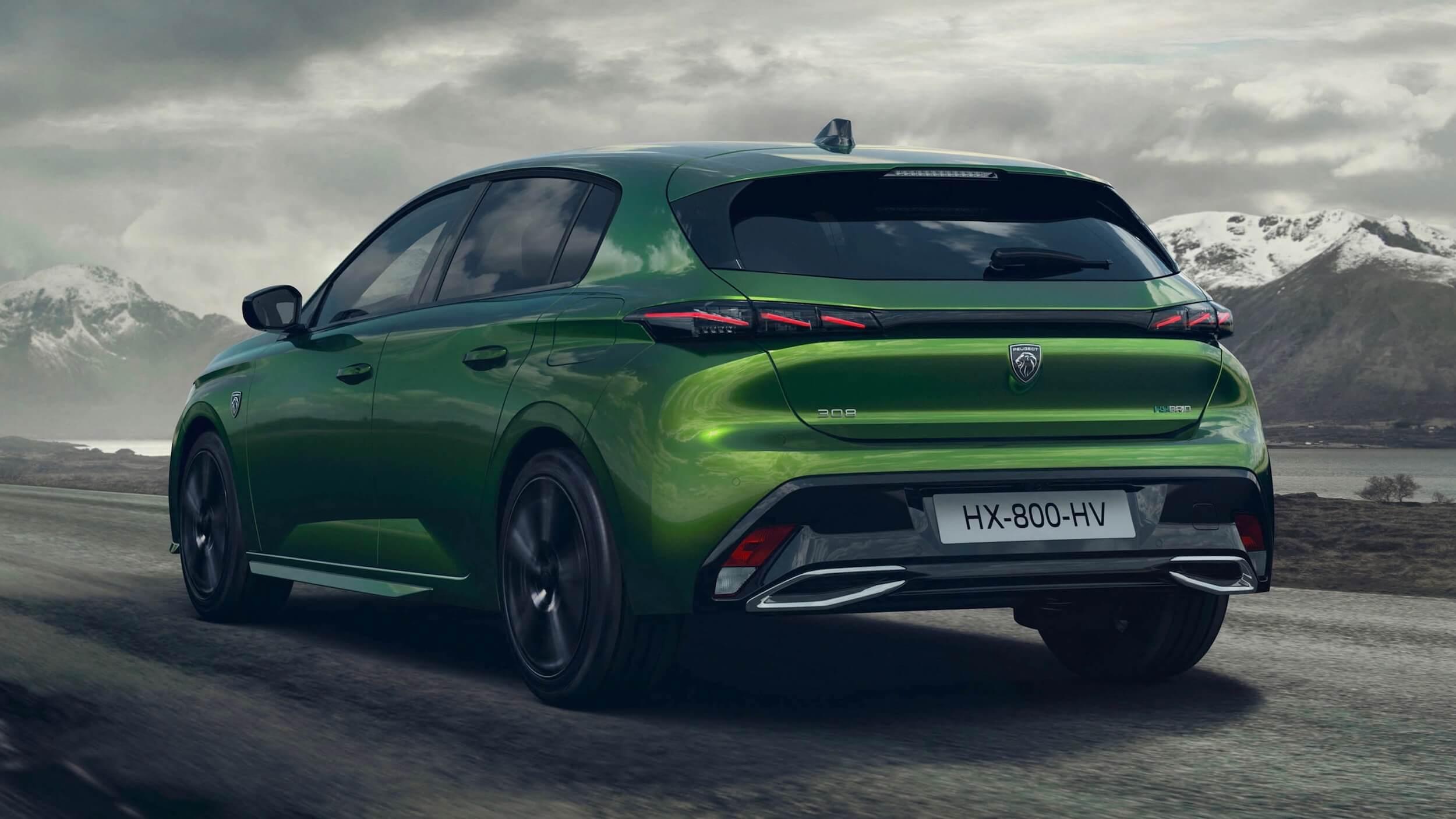 Peugeot 308 plug in hybride groen
