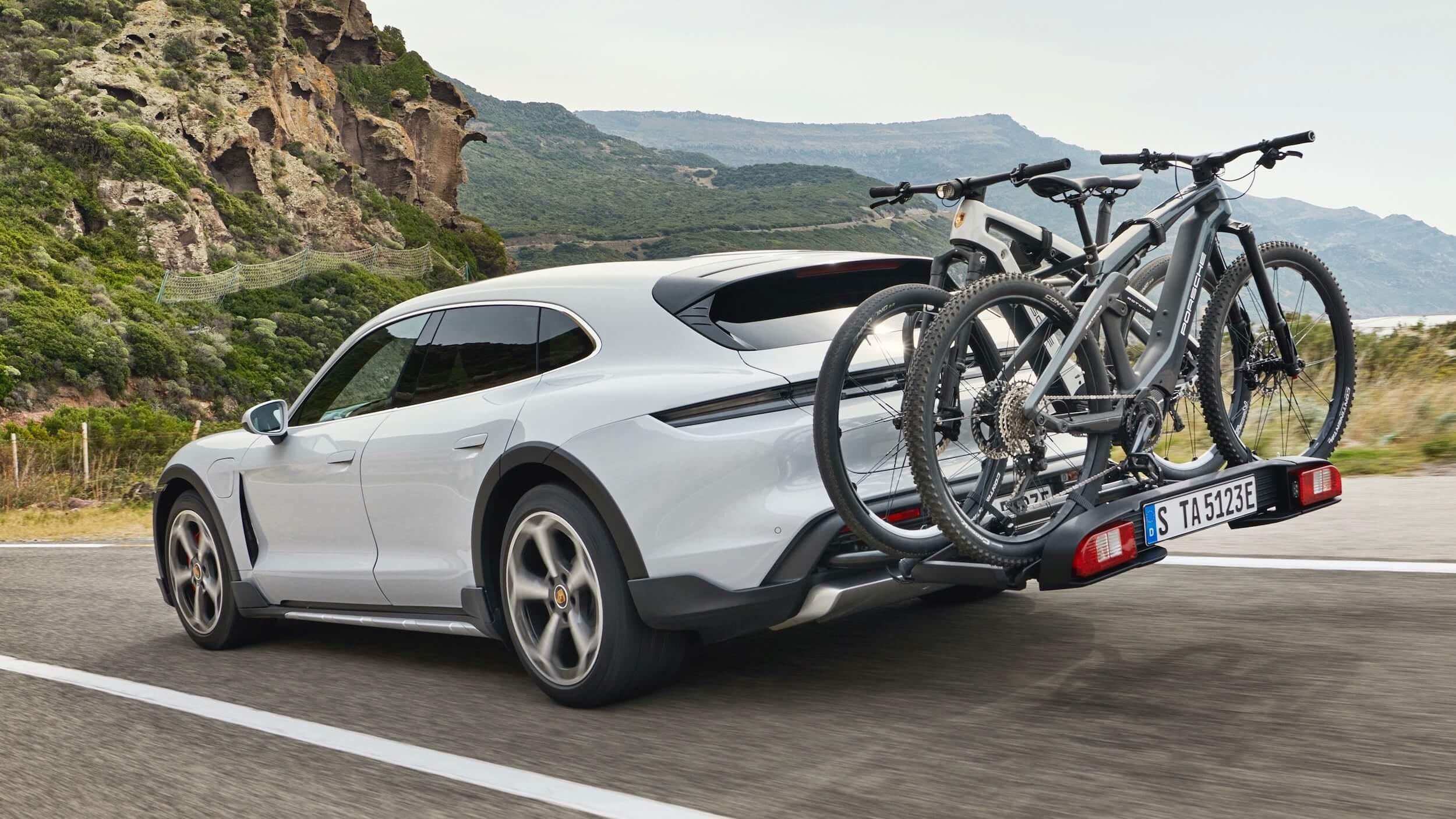Porsche Taycan 4S Cross Turismo fietsendrager