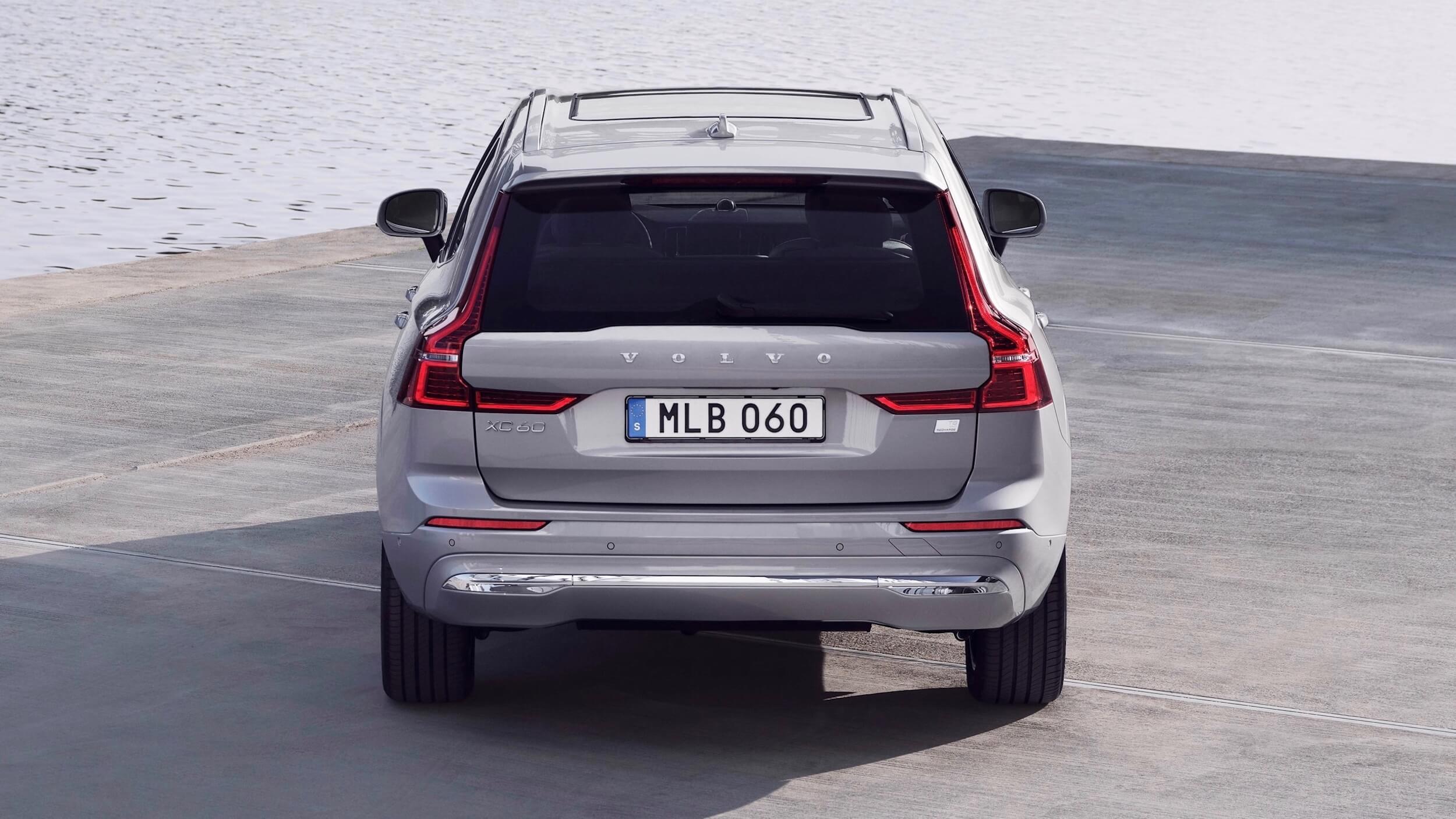 Volvo XC60 plug in hybride facelift achterkant
