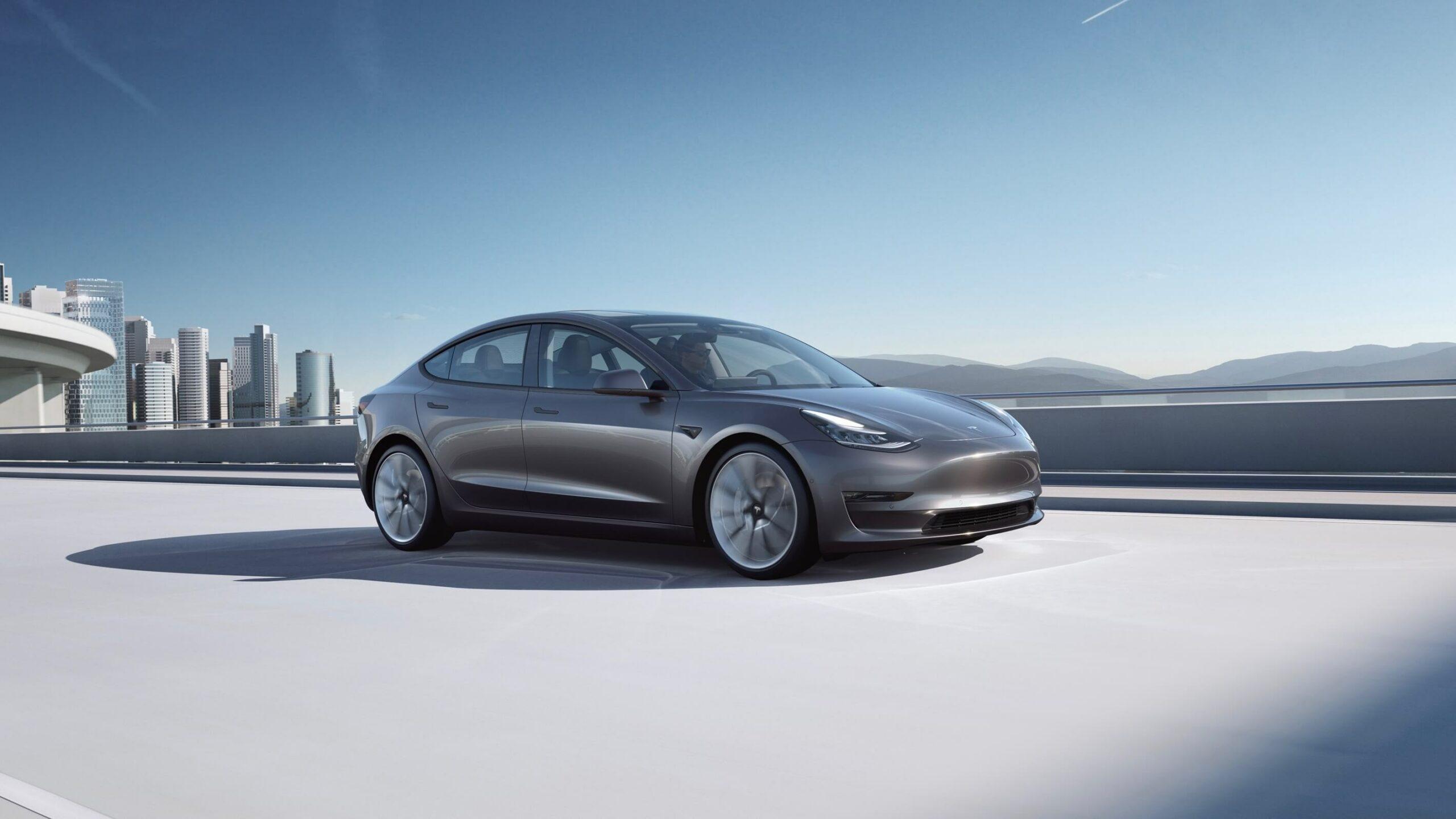2021 Tesla Model 3 grijs
