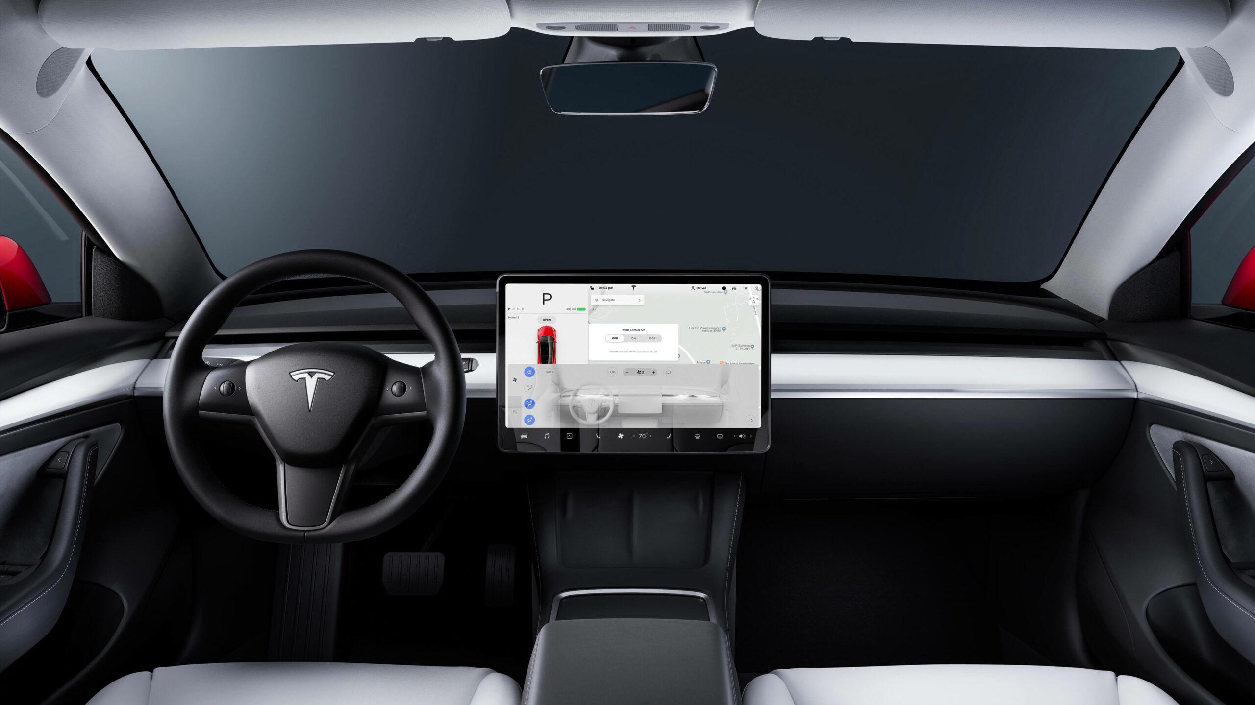 2021 Tesla Model 3 interieur