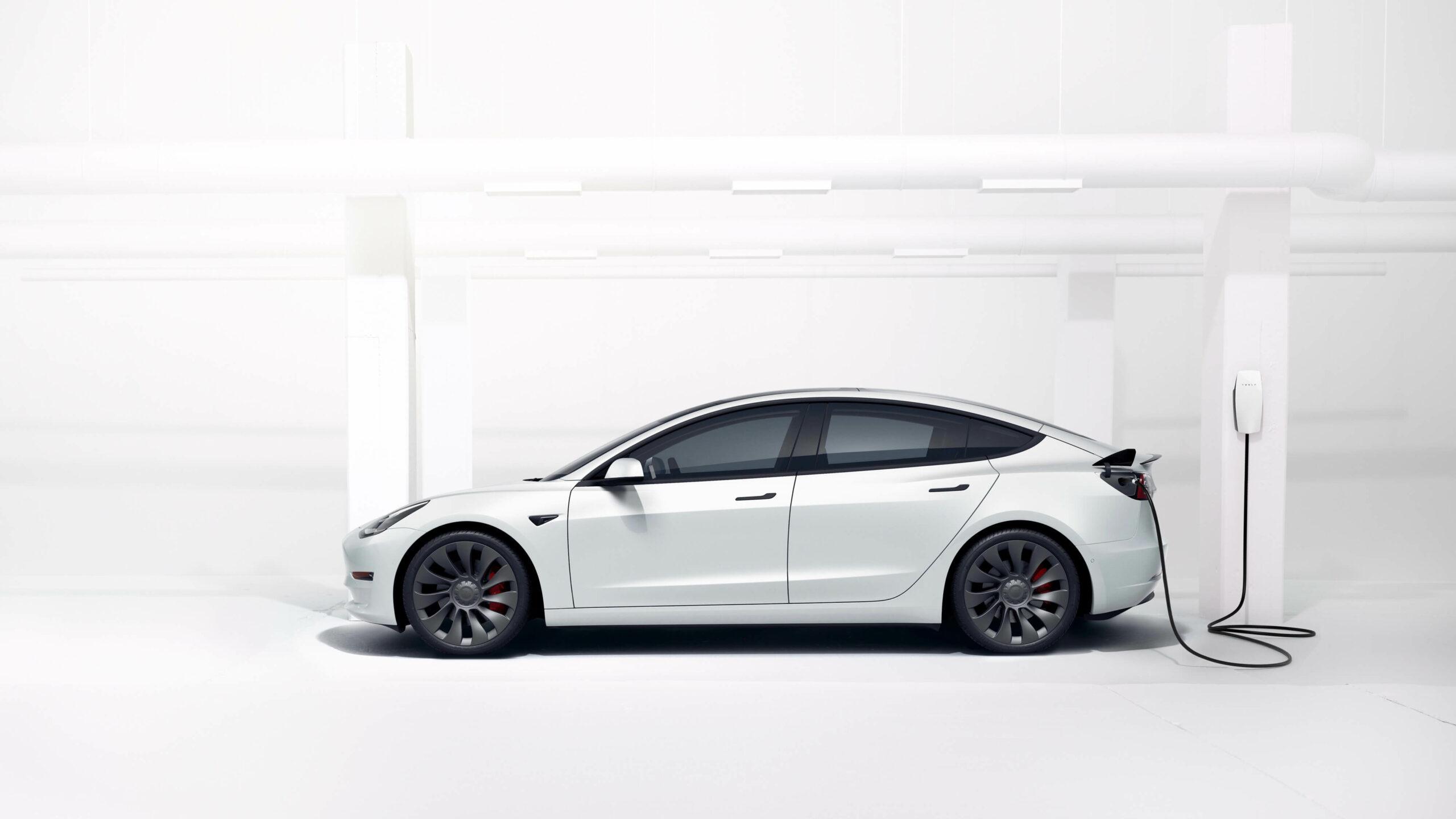 2021 Tesla Model 3 profiel