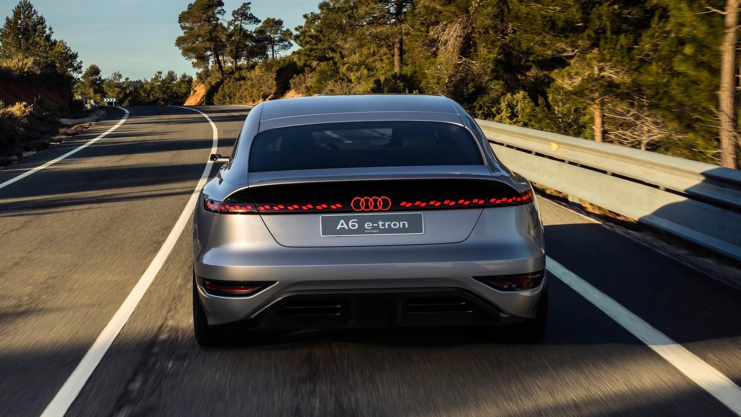 Audi A6 e tron achterkant