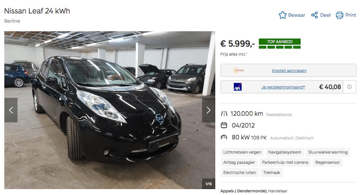 Nissan Leaf tweedehands