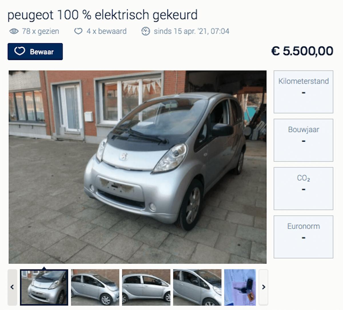 Peugeot iOn tweedehands