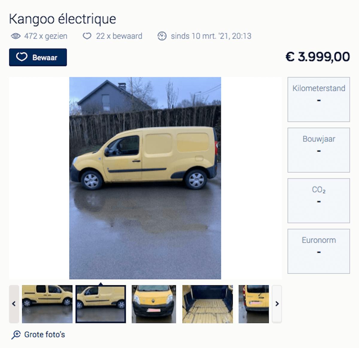 Renault Kangoo EV tweedehands