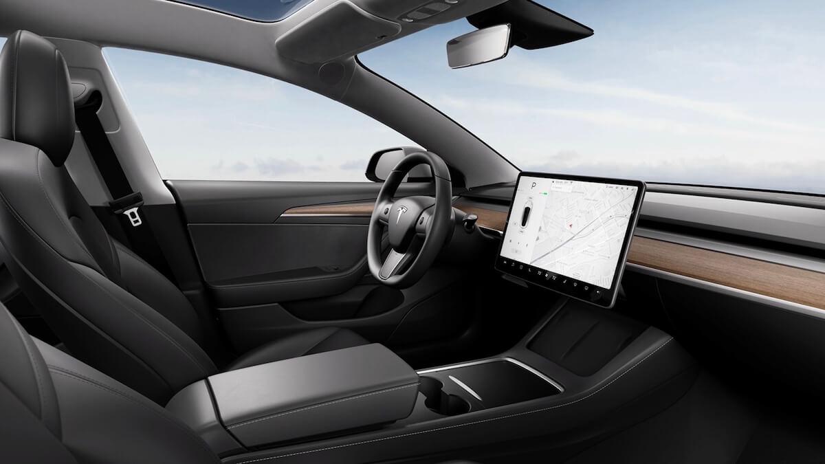 Tesla Model 3 nieuw interieur