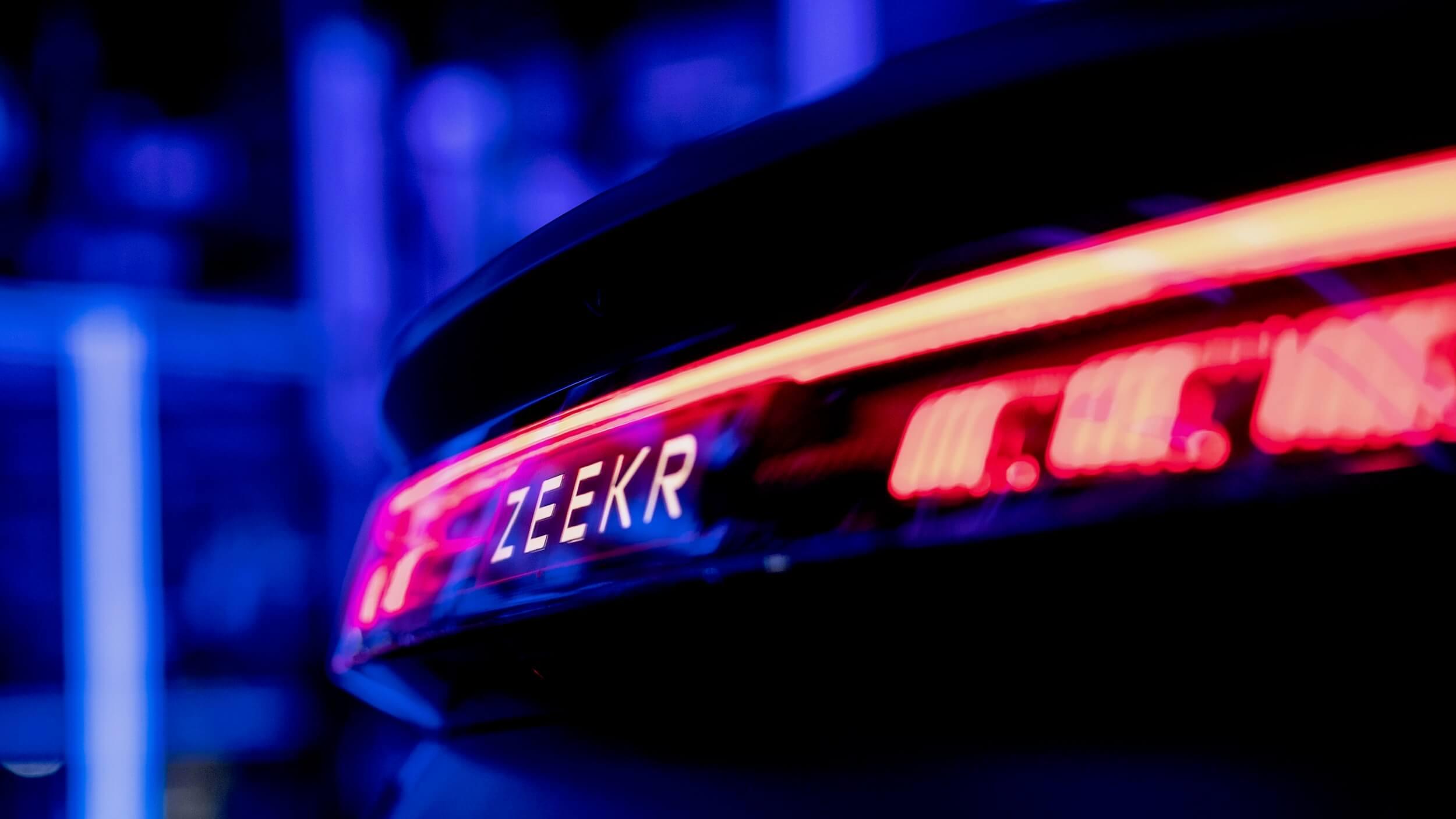 Zeekr 001 auto achterlichten