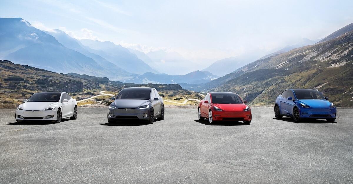 alle Tesla wagens