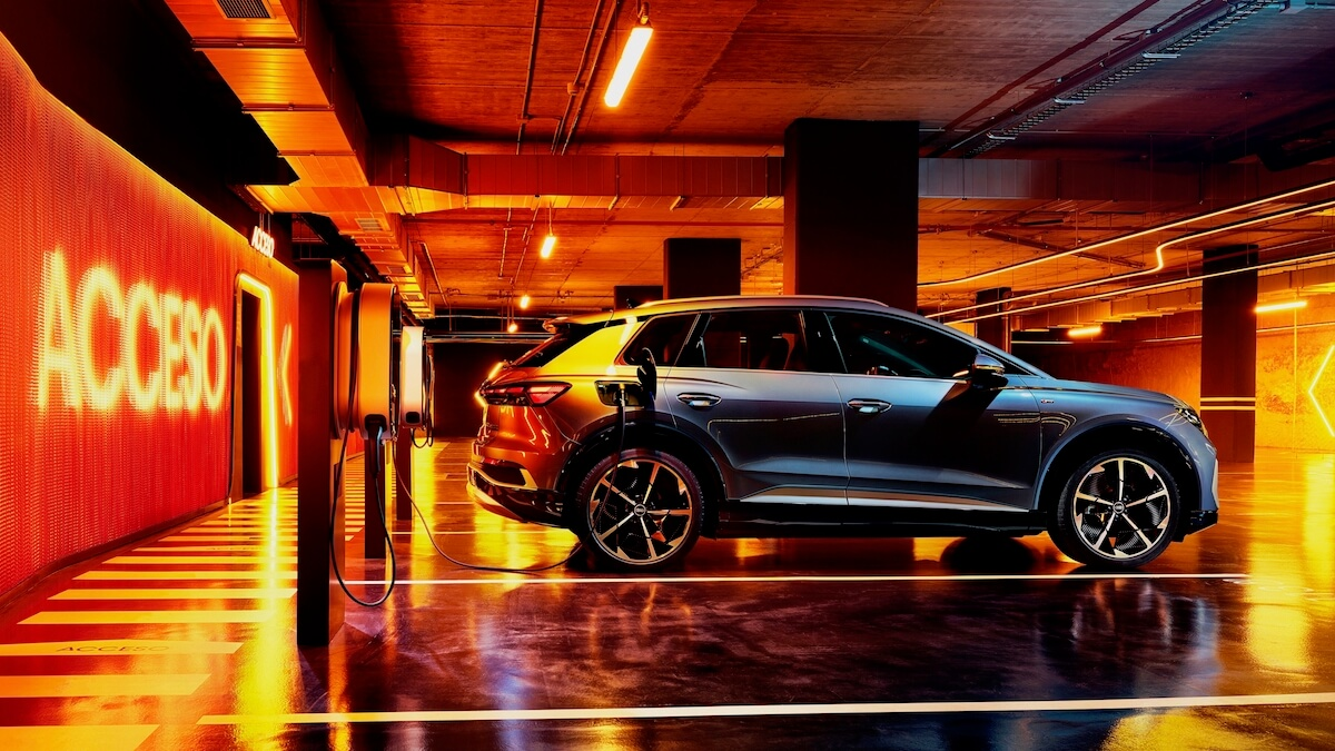elektrische Audi Q4 e tron opladen