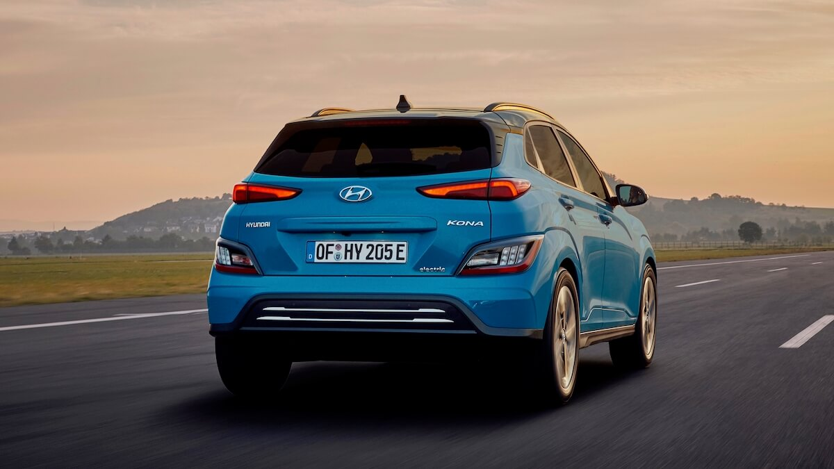 Hyundai Kona Electric rijdend