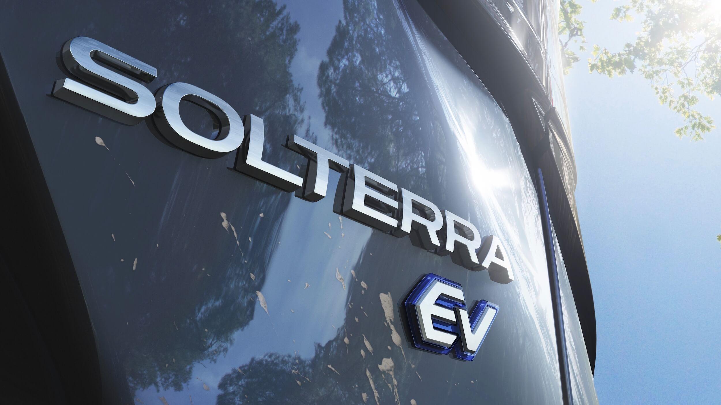 Subaru Solterra badge