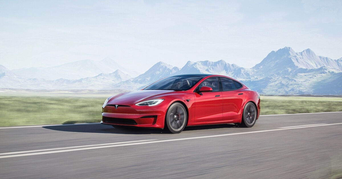 Tesla Model S rood