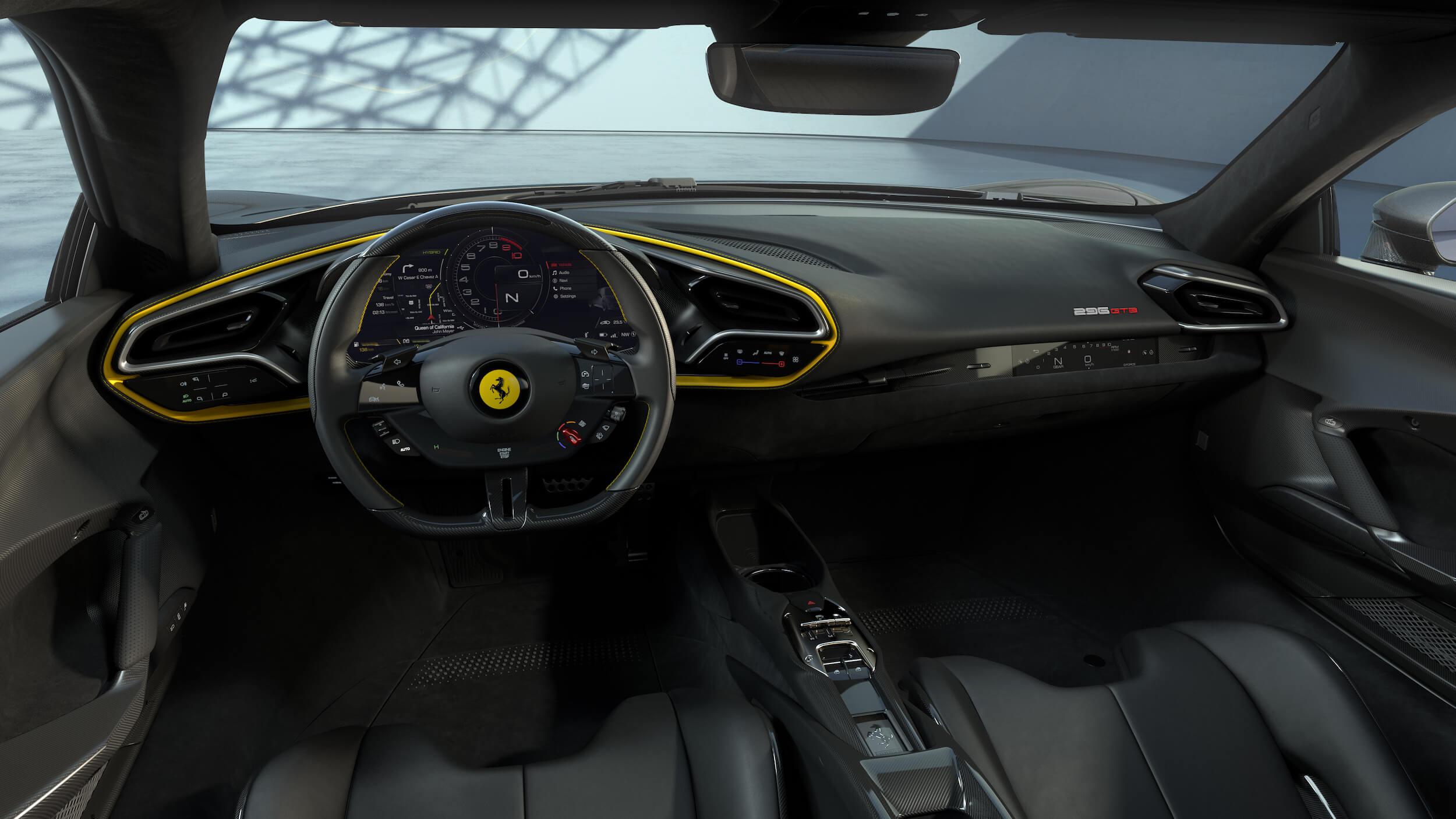 Ferrari 296 GTB dashboard
